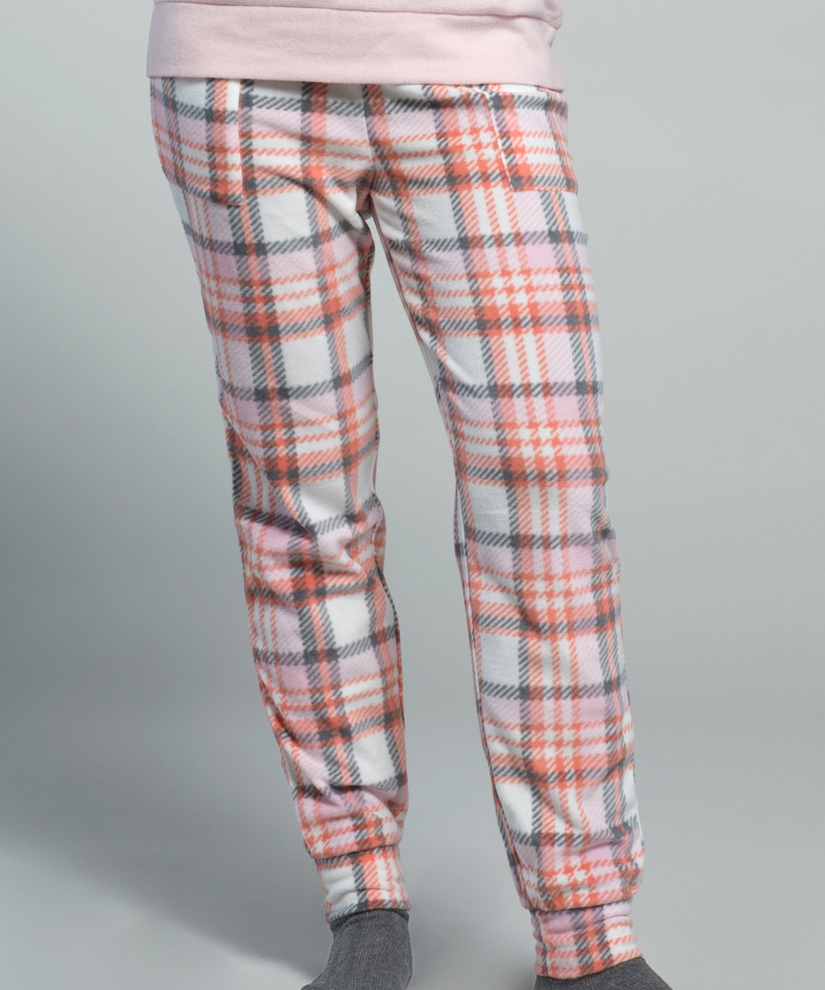 Blush - Arctic Plaid Fleece Lounge Set