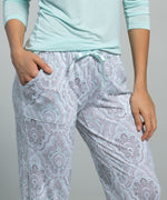 Ice Blue - Arctic Paisley Lounge Set