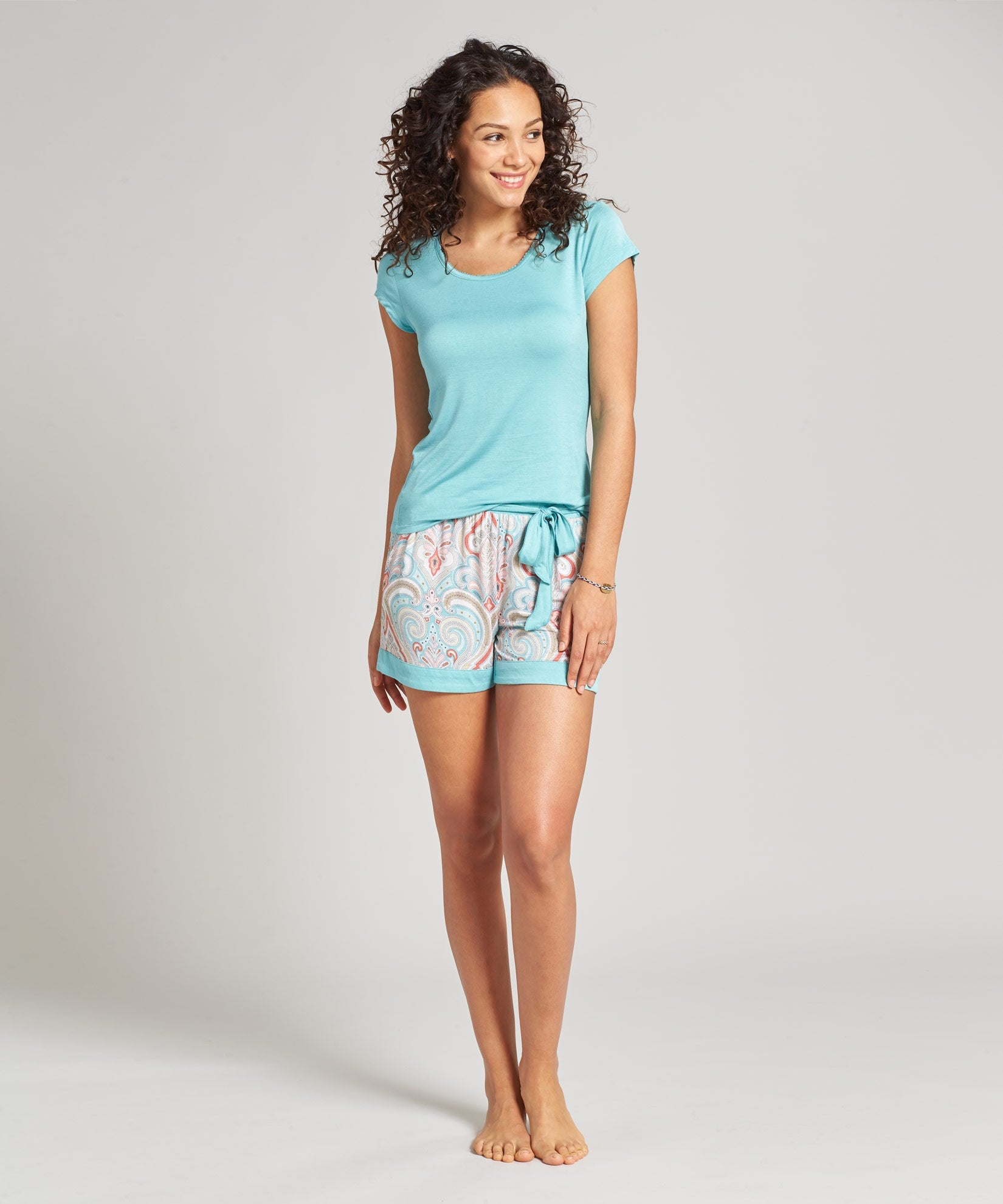 Multi - Vineyard Paisley Short Set