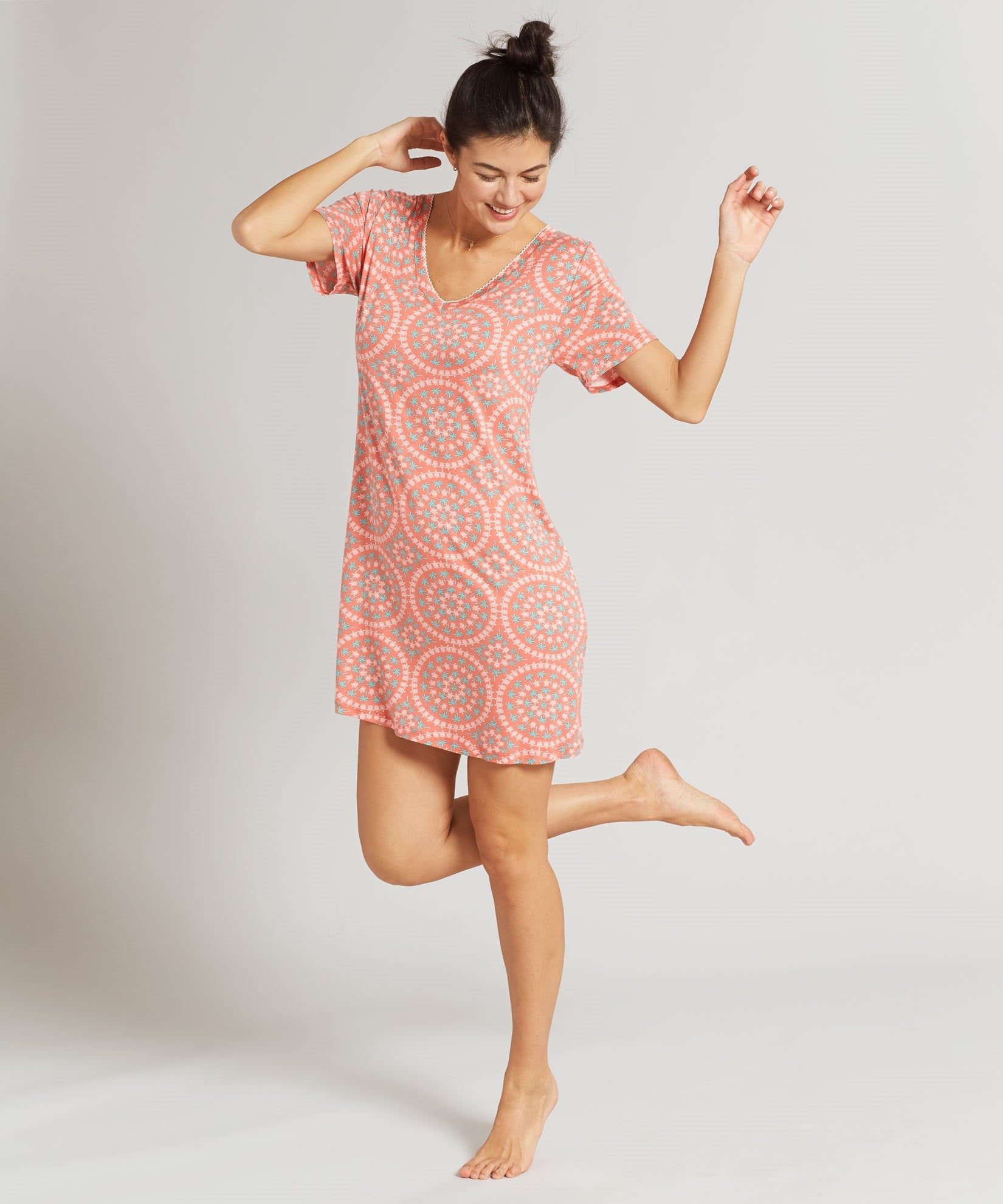 Coral - Turtle Bay Sleepshirt