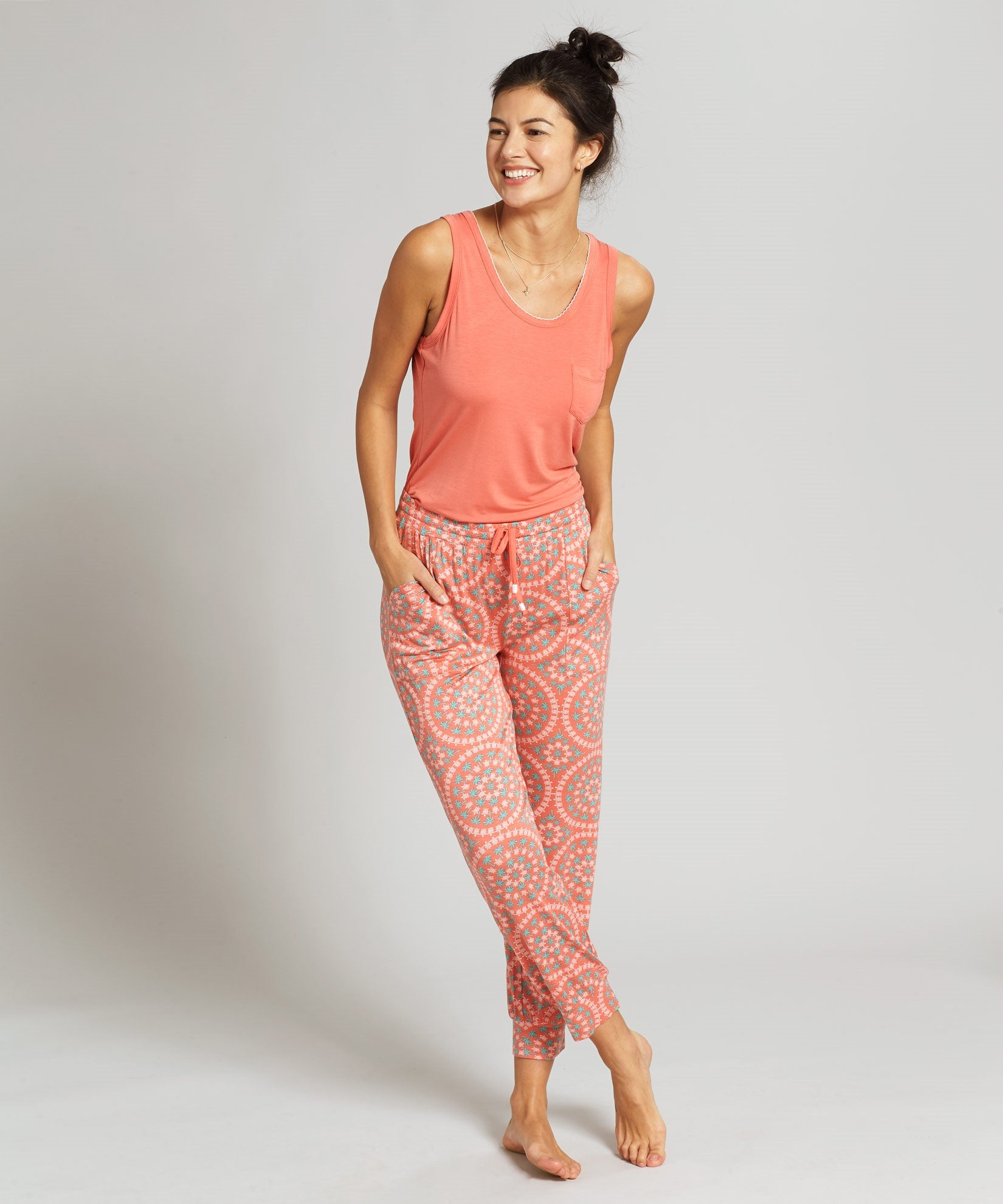 Coral - Turtle Bay Tank & Jogger Set