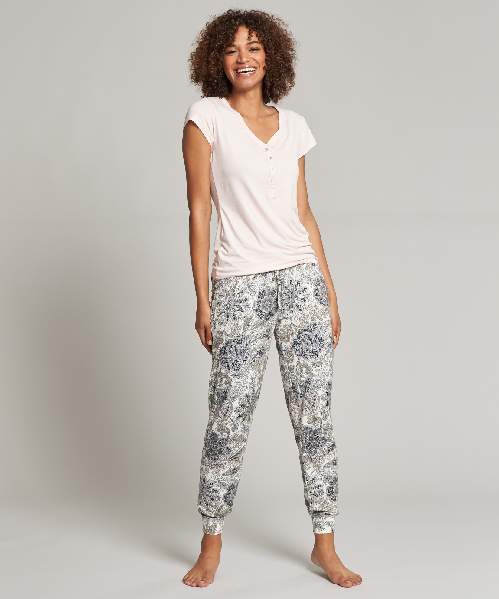 Blush - Resort Toile Jogger PJ Set