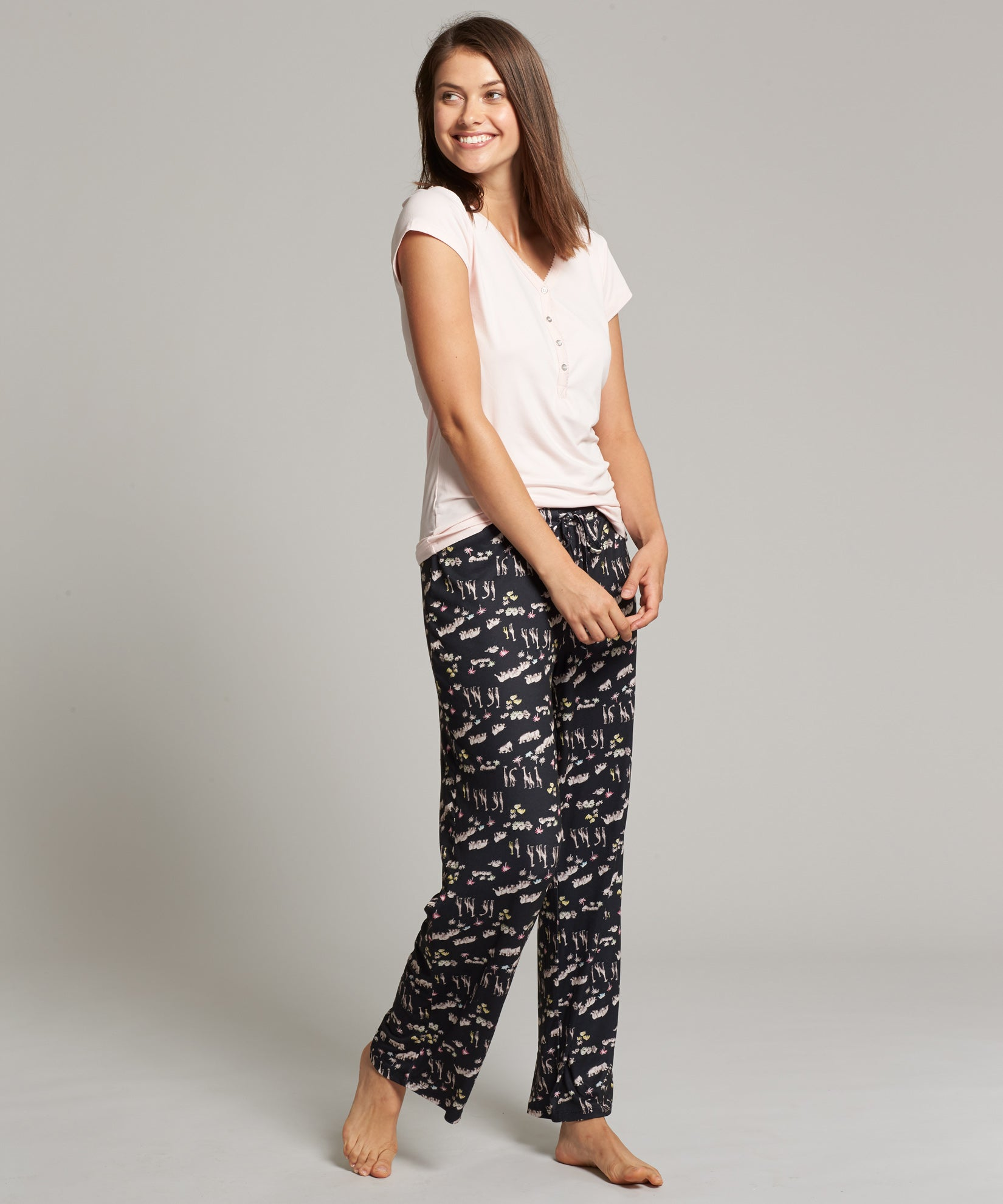 Black - Safari PJ Pant Set