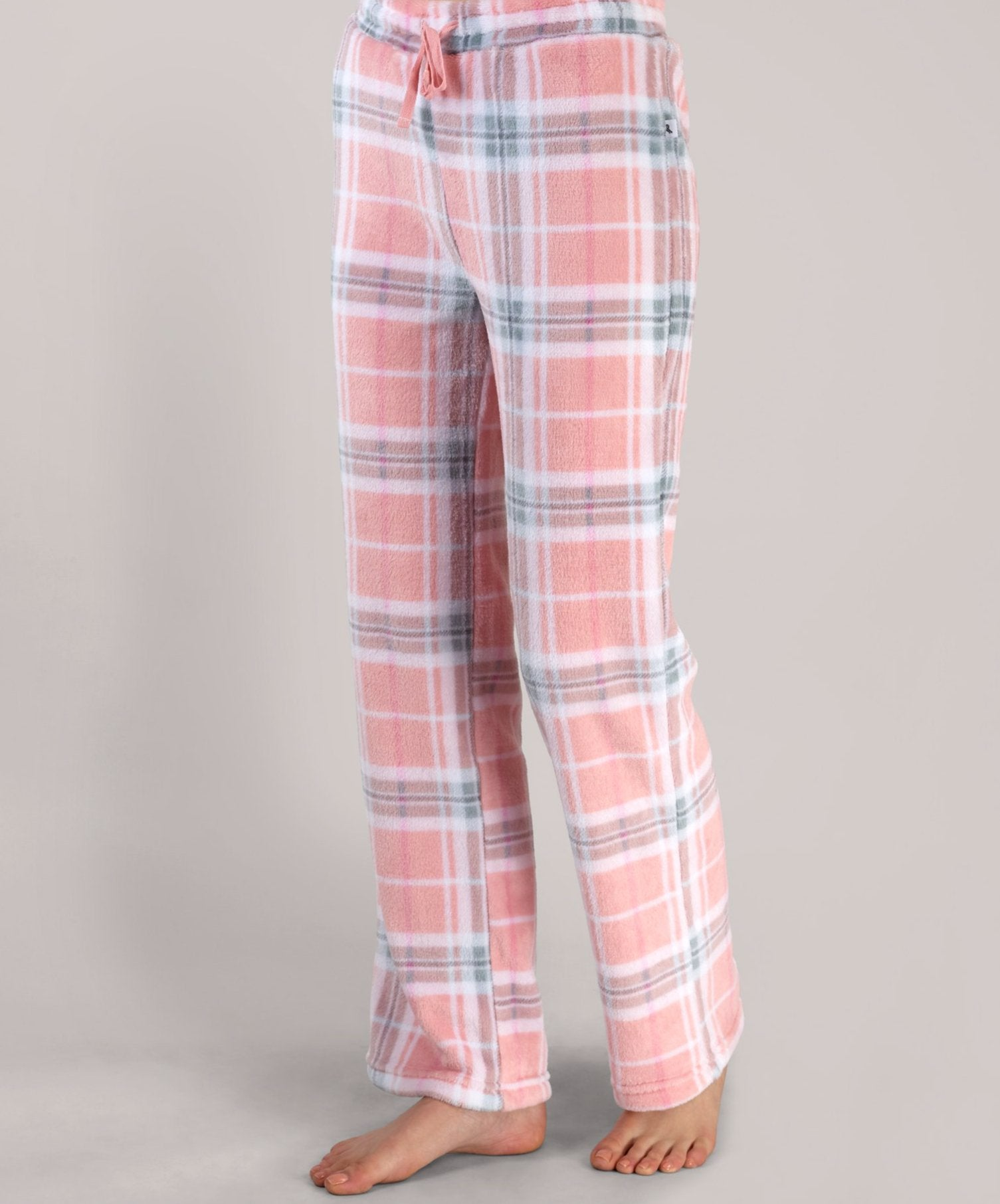 Pink Plaid Lounge Pants - Pink Plaid Lounge Pants
