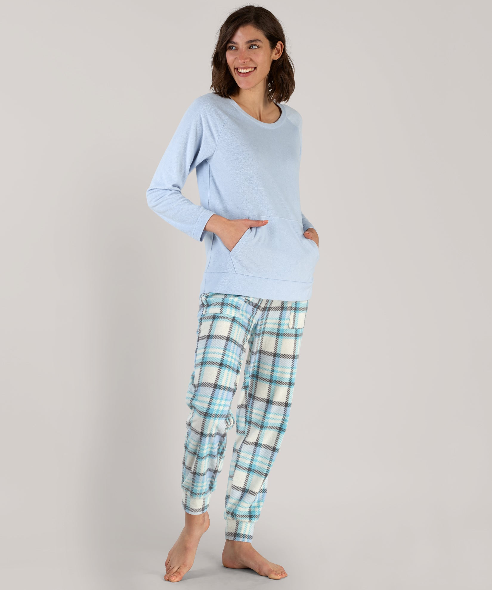 Arctic Plaid Jogger Lounge Set - Arctic Plaid Jogger Lounge Set