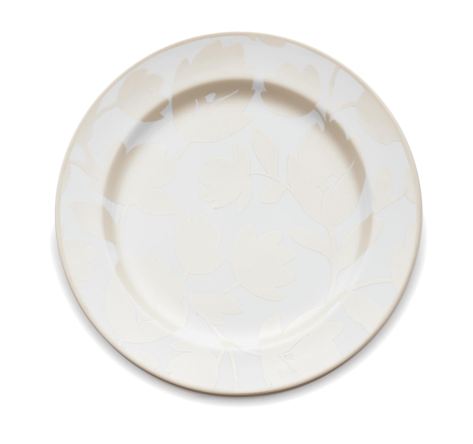 Pearl & White - Flirty Floral Round Platter