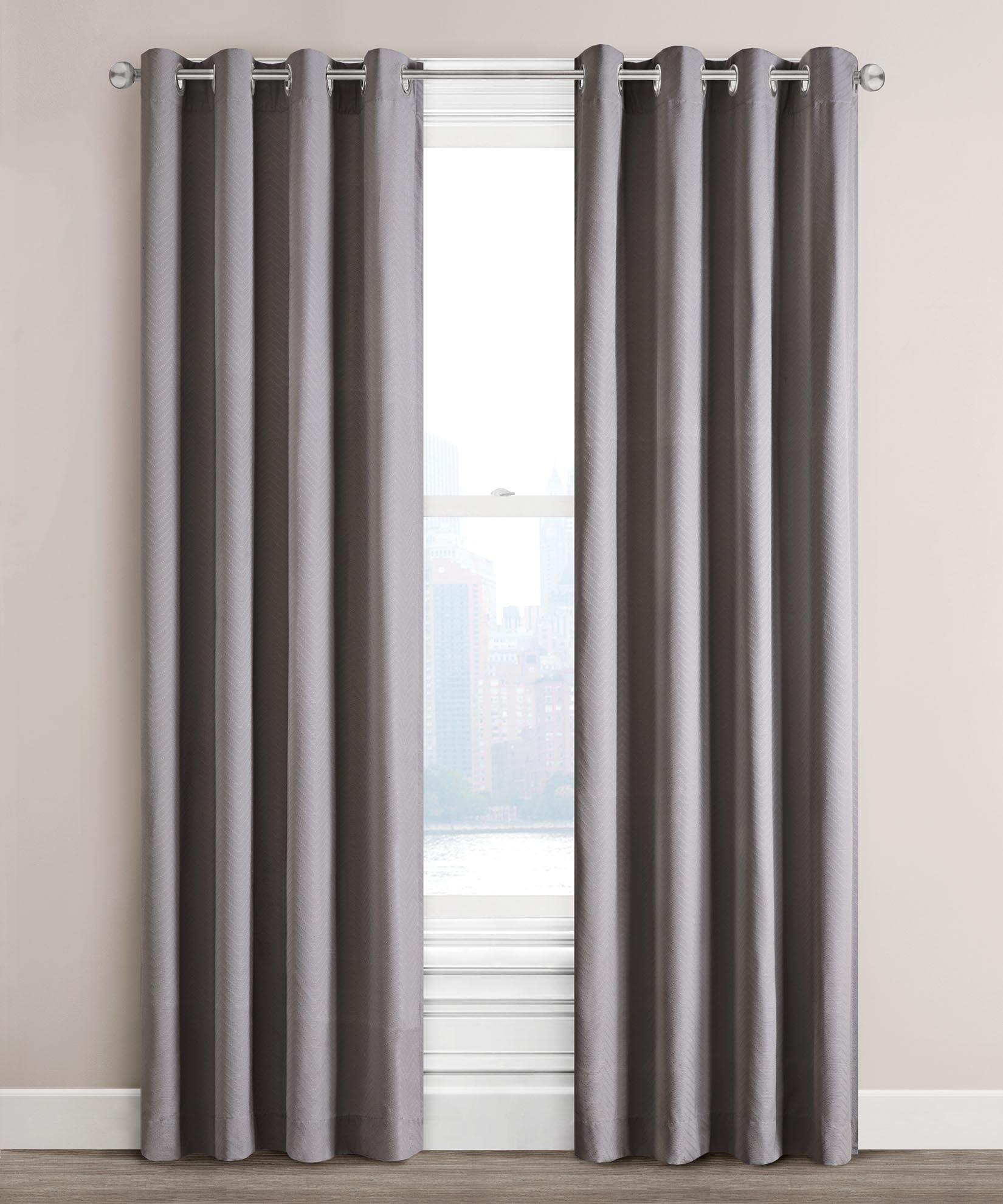 Grey - Woven Chevron Window Panel