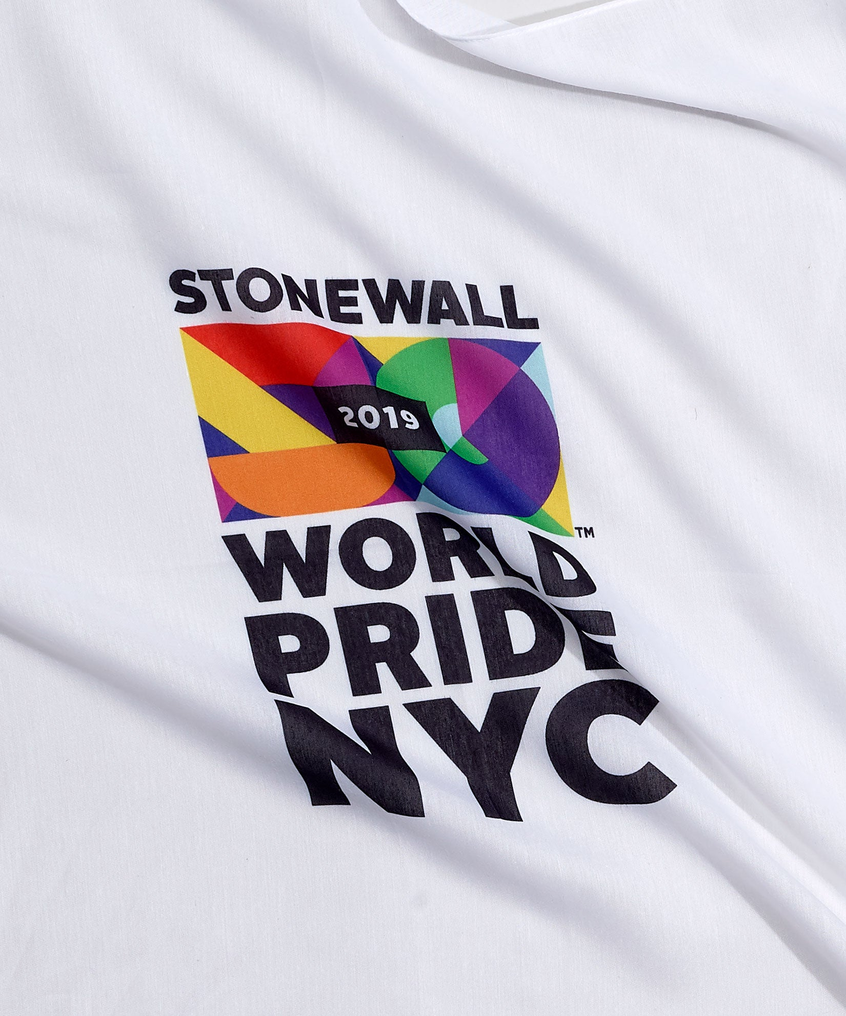 White - World Pride NYC Bandana