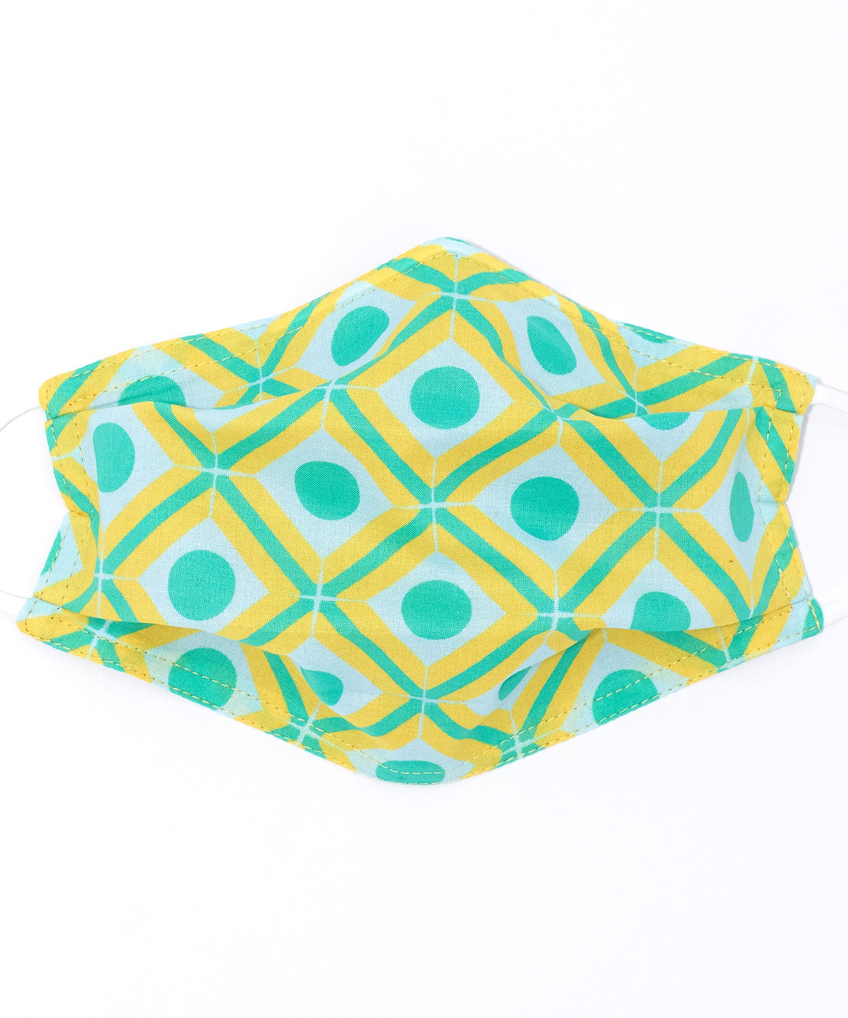 Yellow - Dot Geo Cooling Mask
