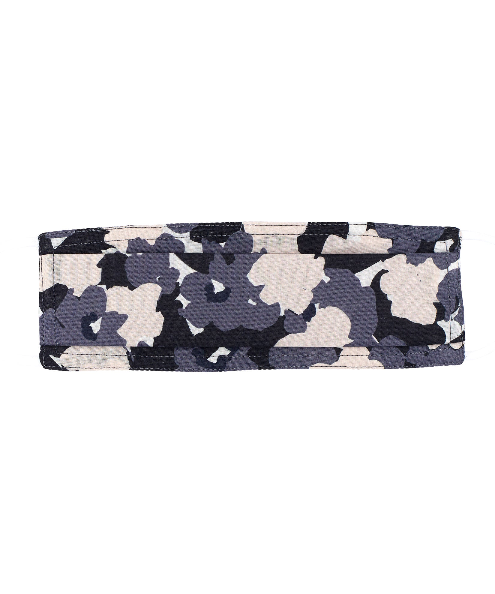 Black - Floral Camo Cooling Mask w/Pocket