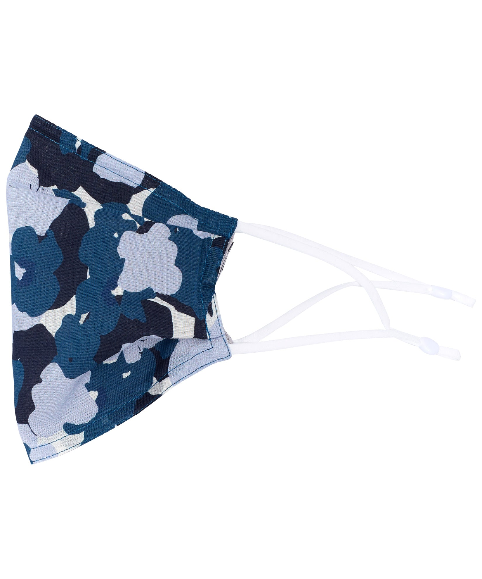 Blue Spruce - Floral Camo Cooling Mask w/Pocket