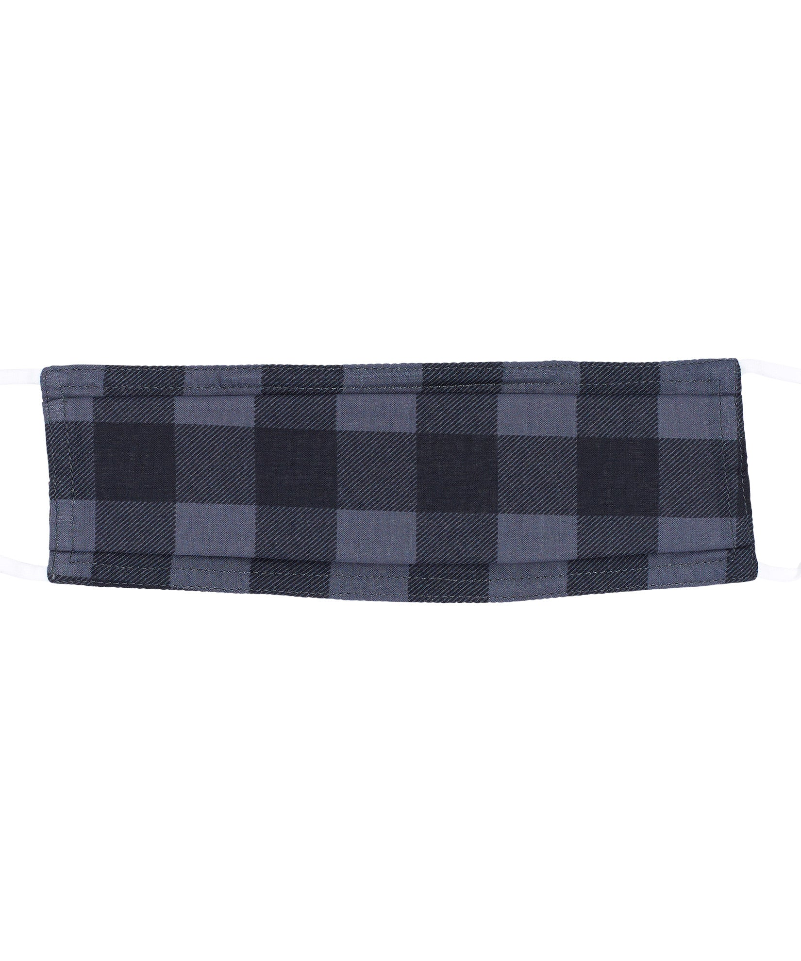 Grey/Black - Buffalo Check Cooling Mask w/Pocket
