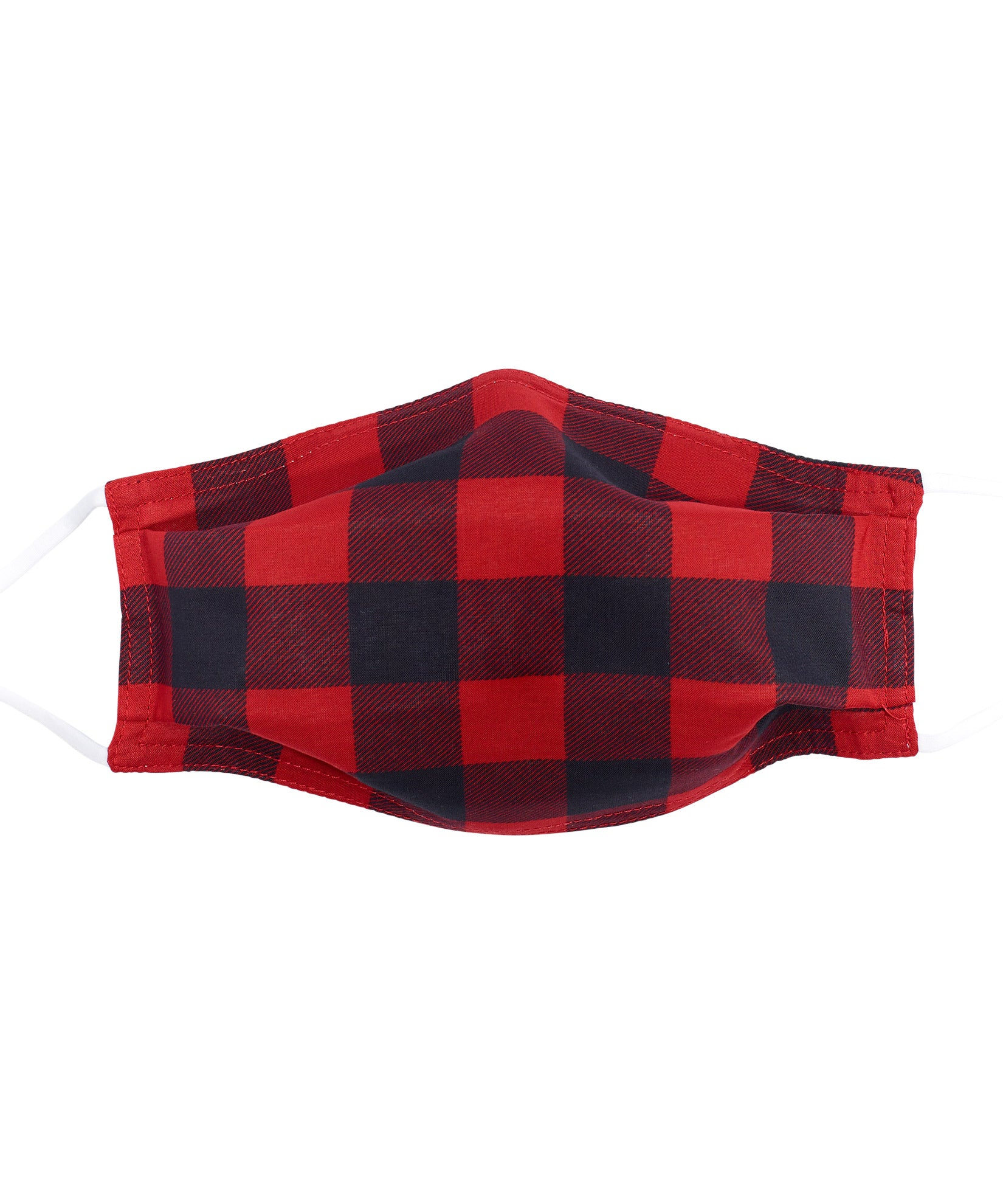 Red/Black - Buffalo Check Cooling Mask w/Pocket
