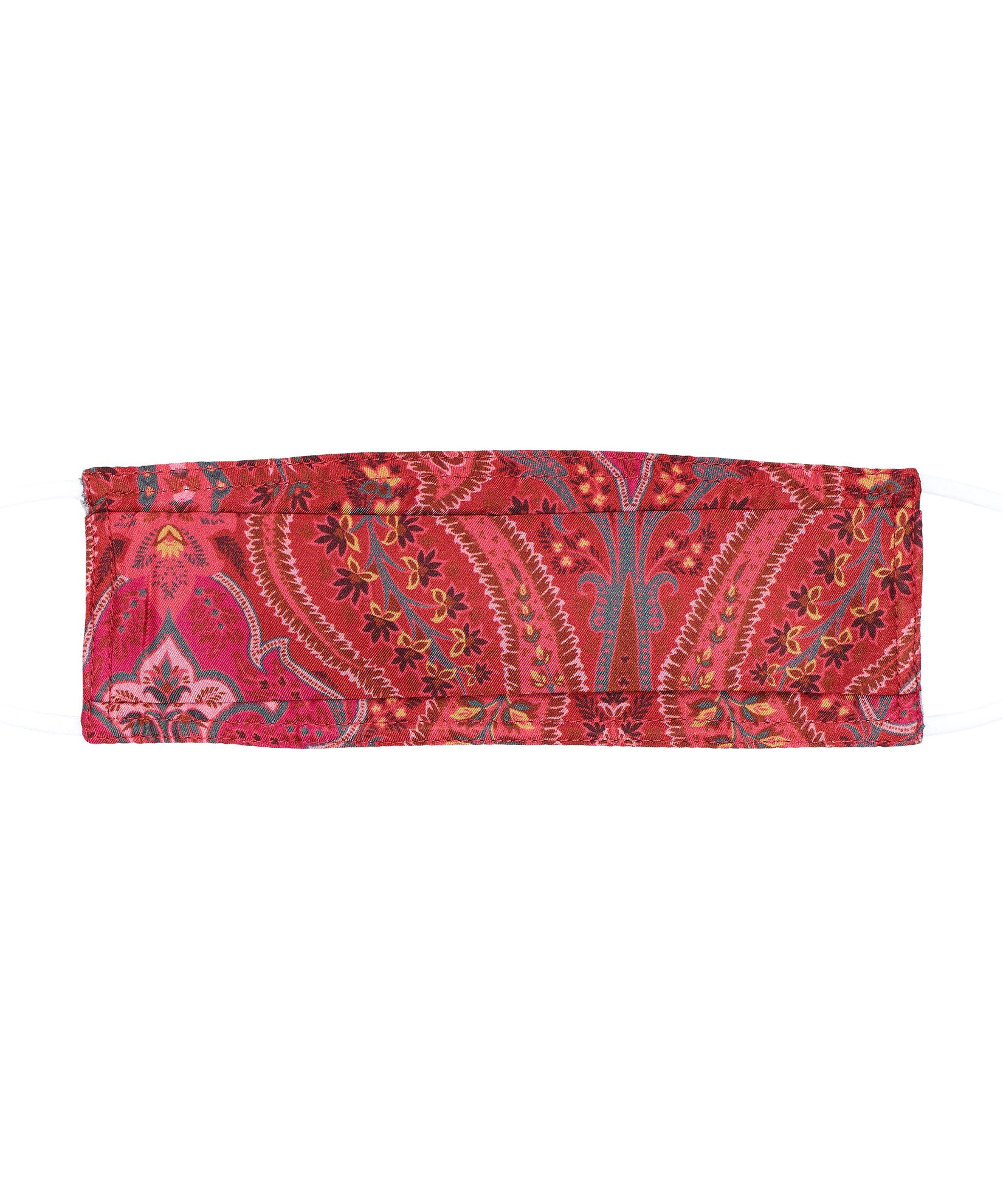 Spice Red - Kelly Paisley Silk Cooling Mask