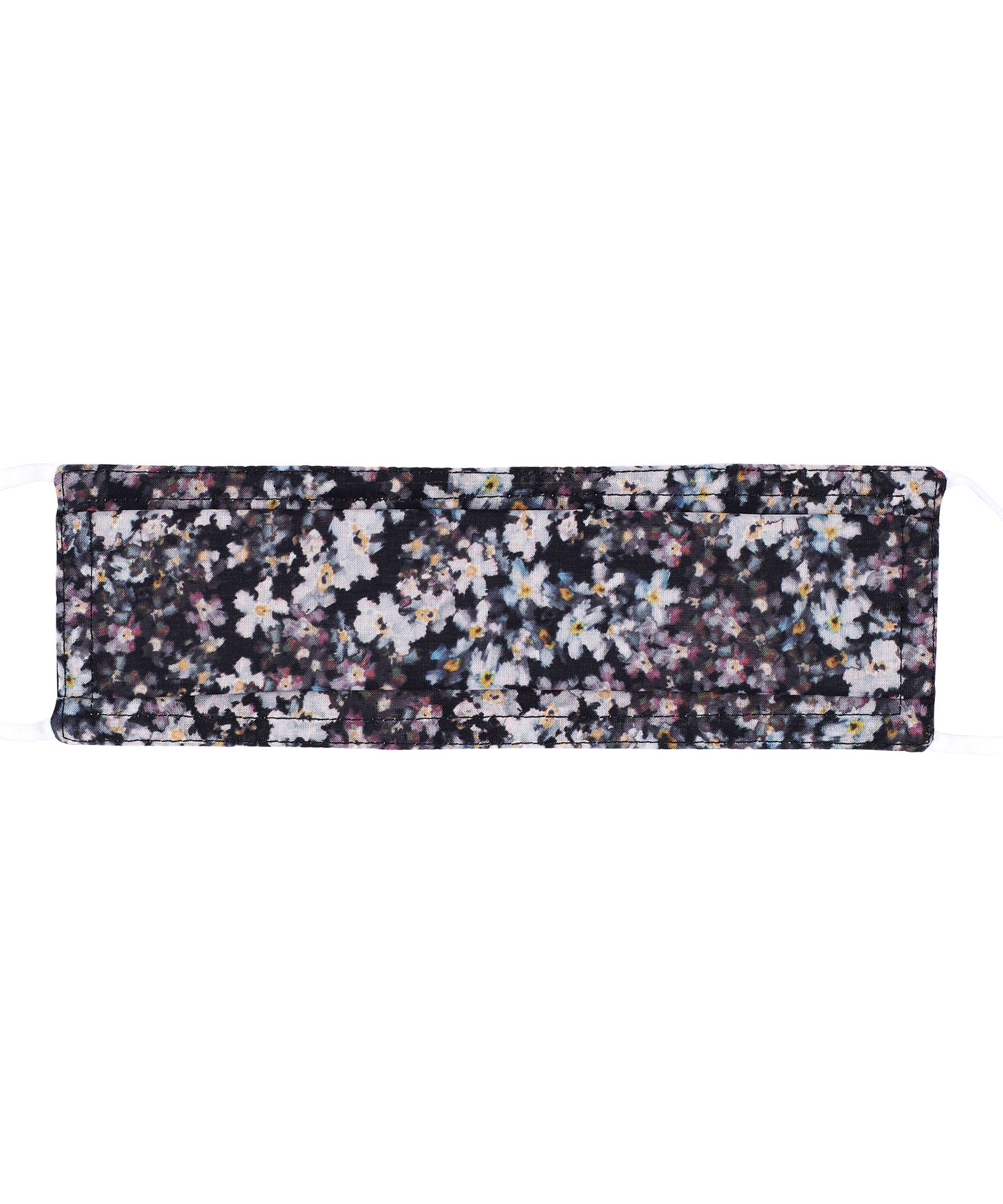 Black - Blurry Floral Cooling Mask