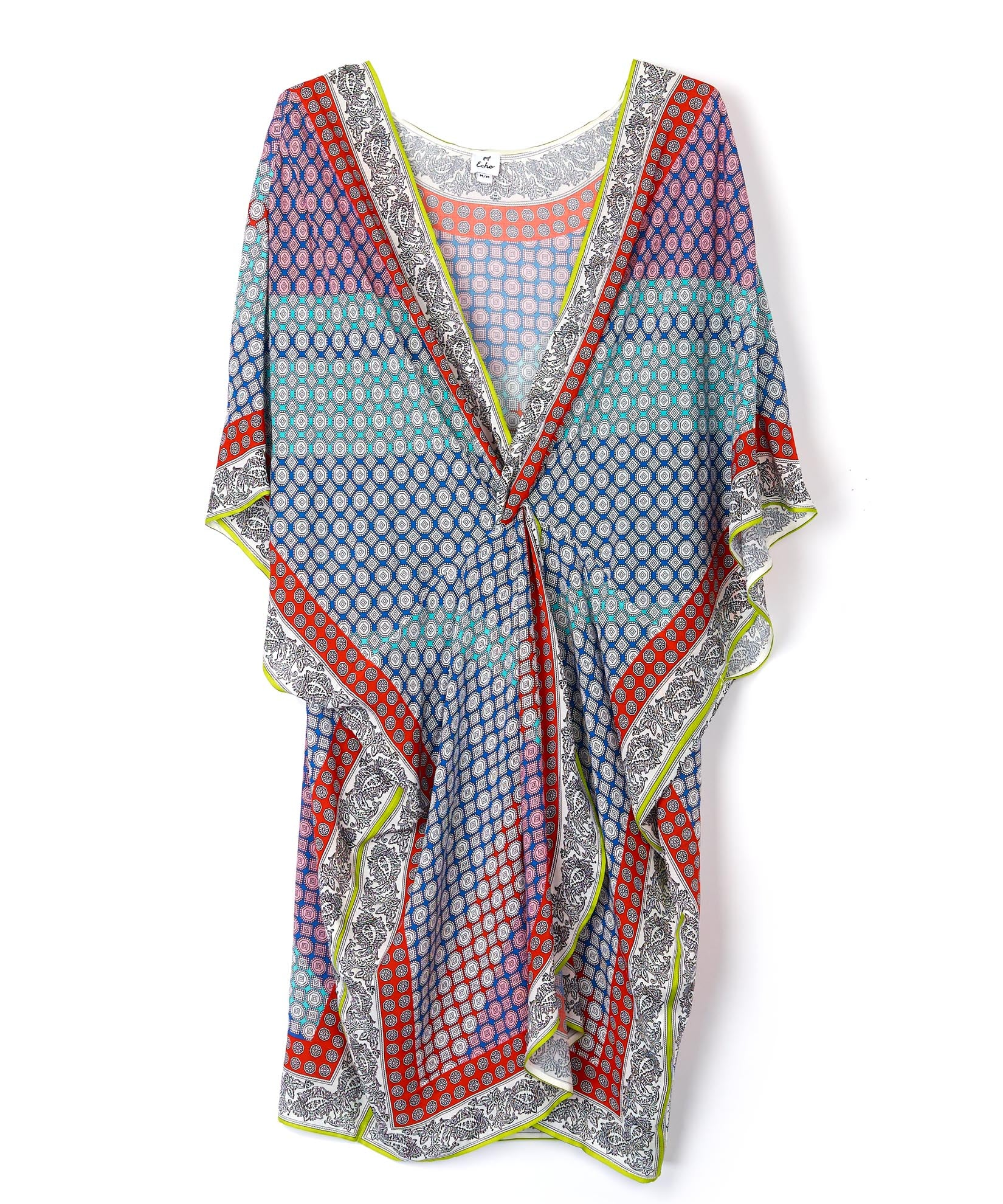 Multi - Harbour Foulard Twist Front Caftan