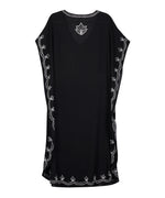 Black - Embroidered Maxi Caftan