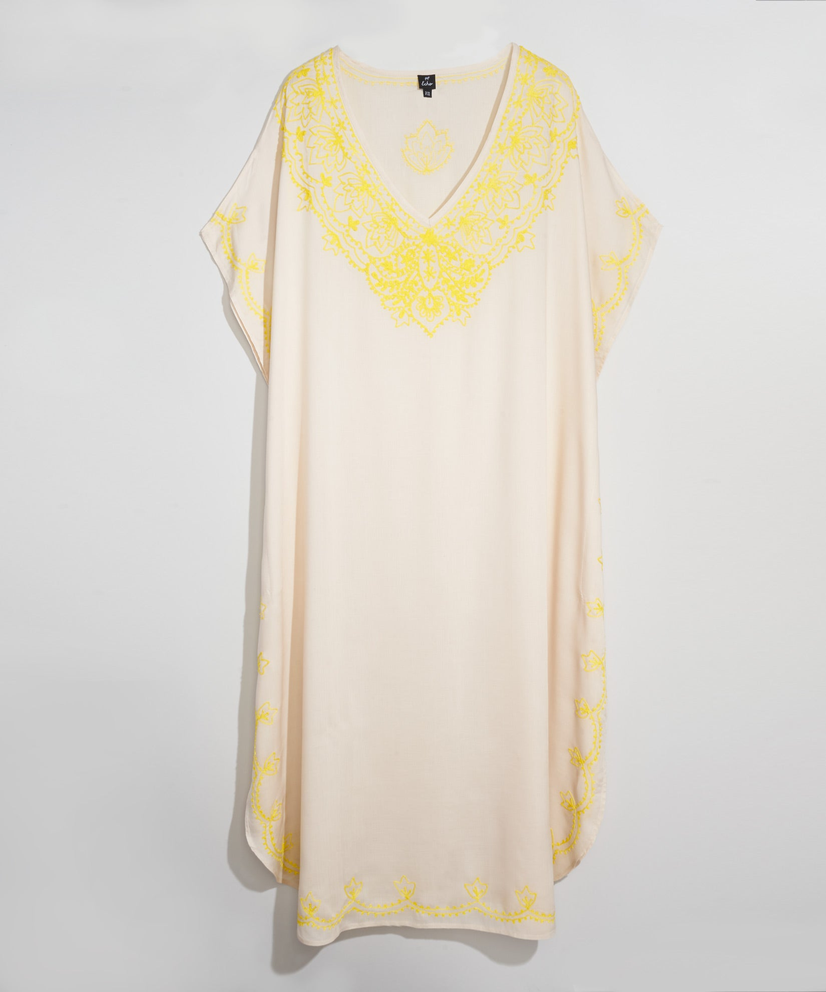 Stone - Embroidered Maxi Caftan