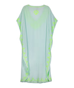 Seafoam - Embroidered Maxi Caftan