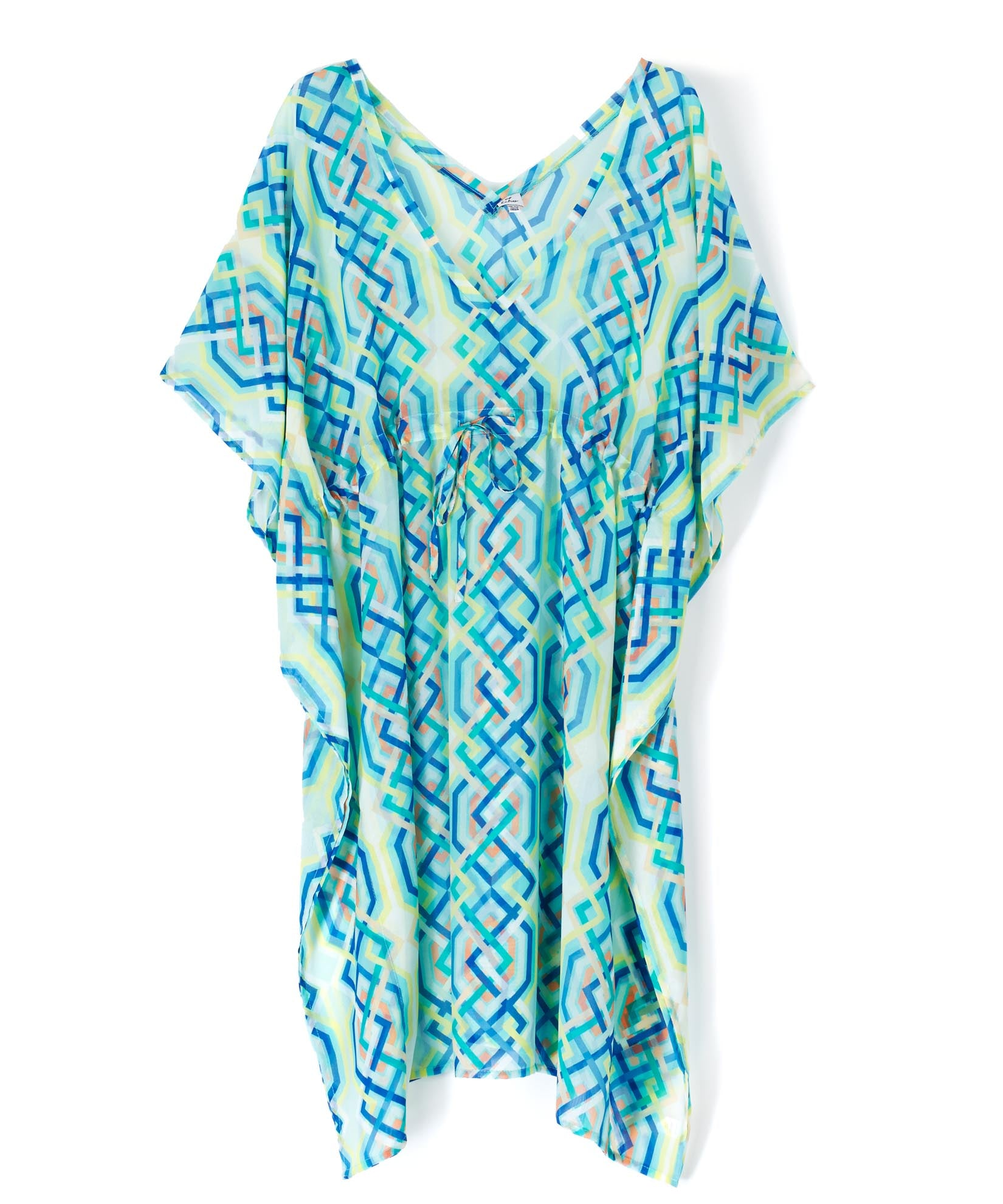 Seafoam - Cabana Lattice Double V Caftan