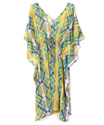 Sunburst - Cabana Lattice Double V Caftan