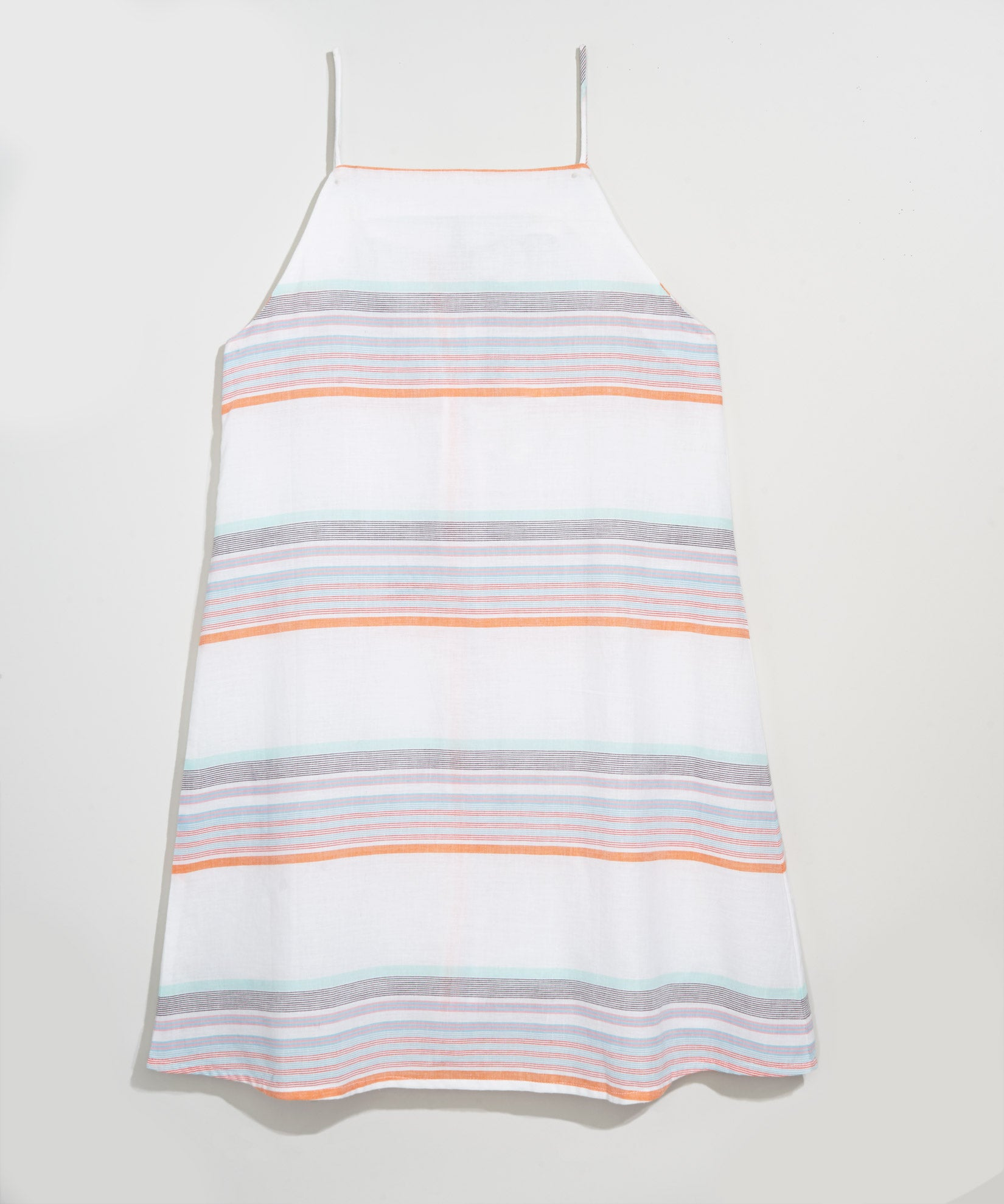 White - Sunset Stripe Mini Dress
