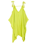 Sunny Lime - Cold Shoulder Dress