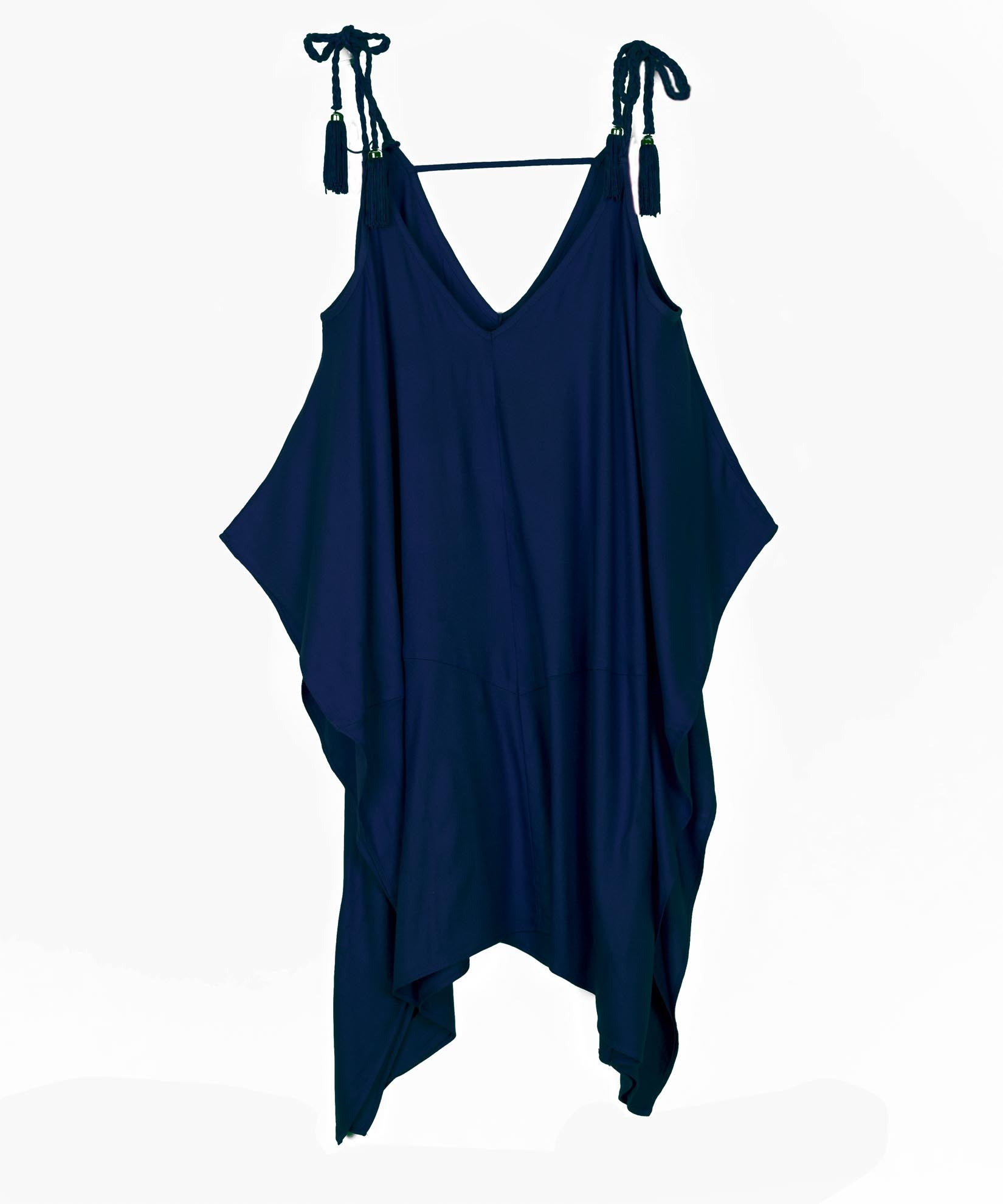 Navy - Cold Shoulder Dress
