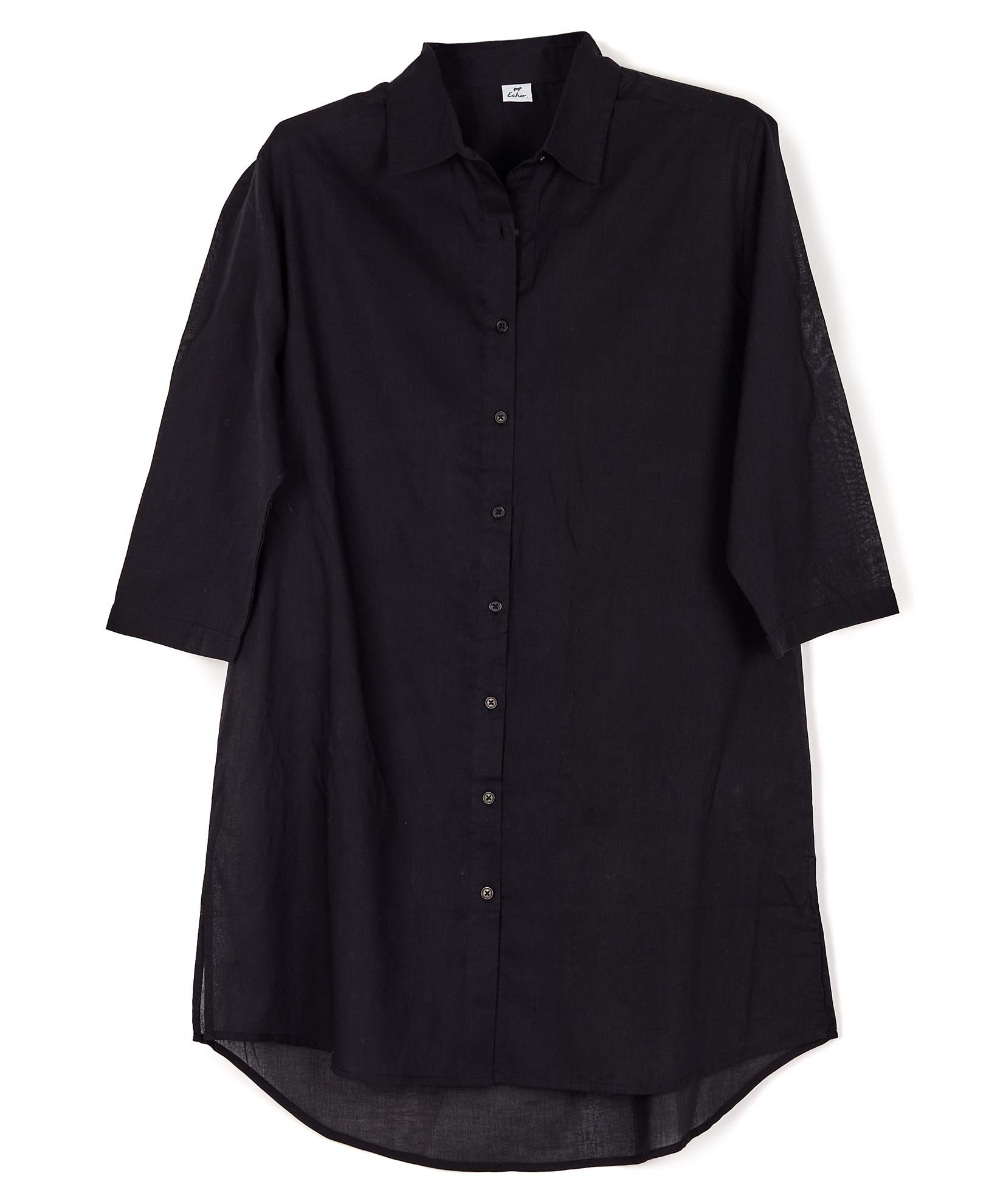 Black - Solid Button Down