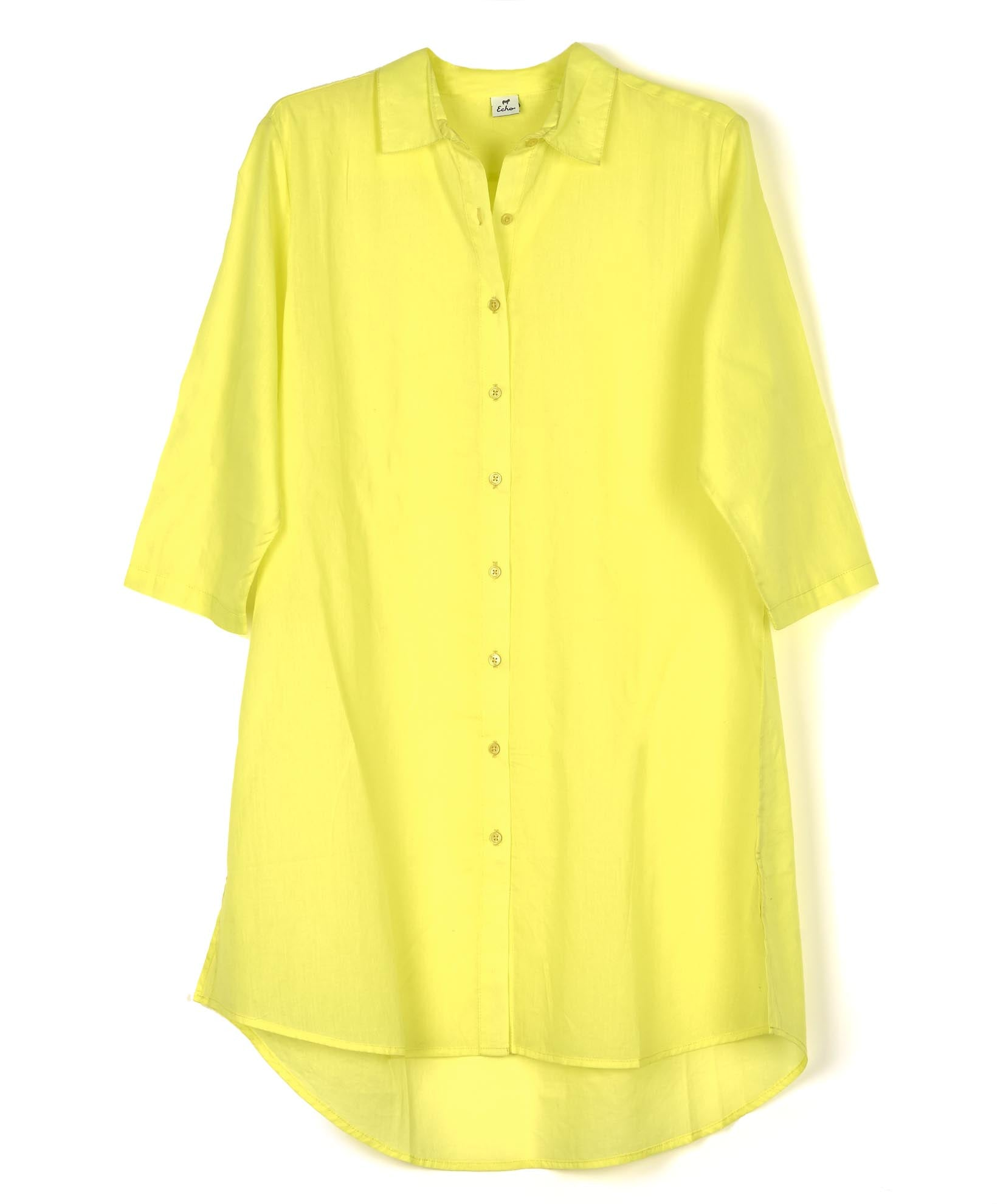 Sunny Lime - Solid Button Down