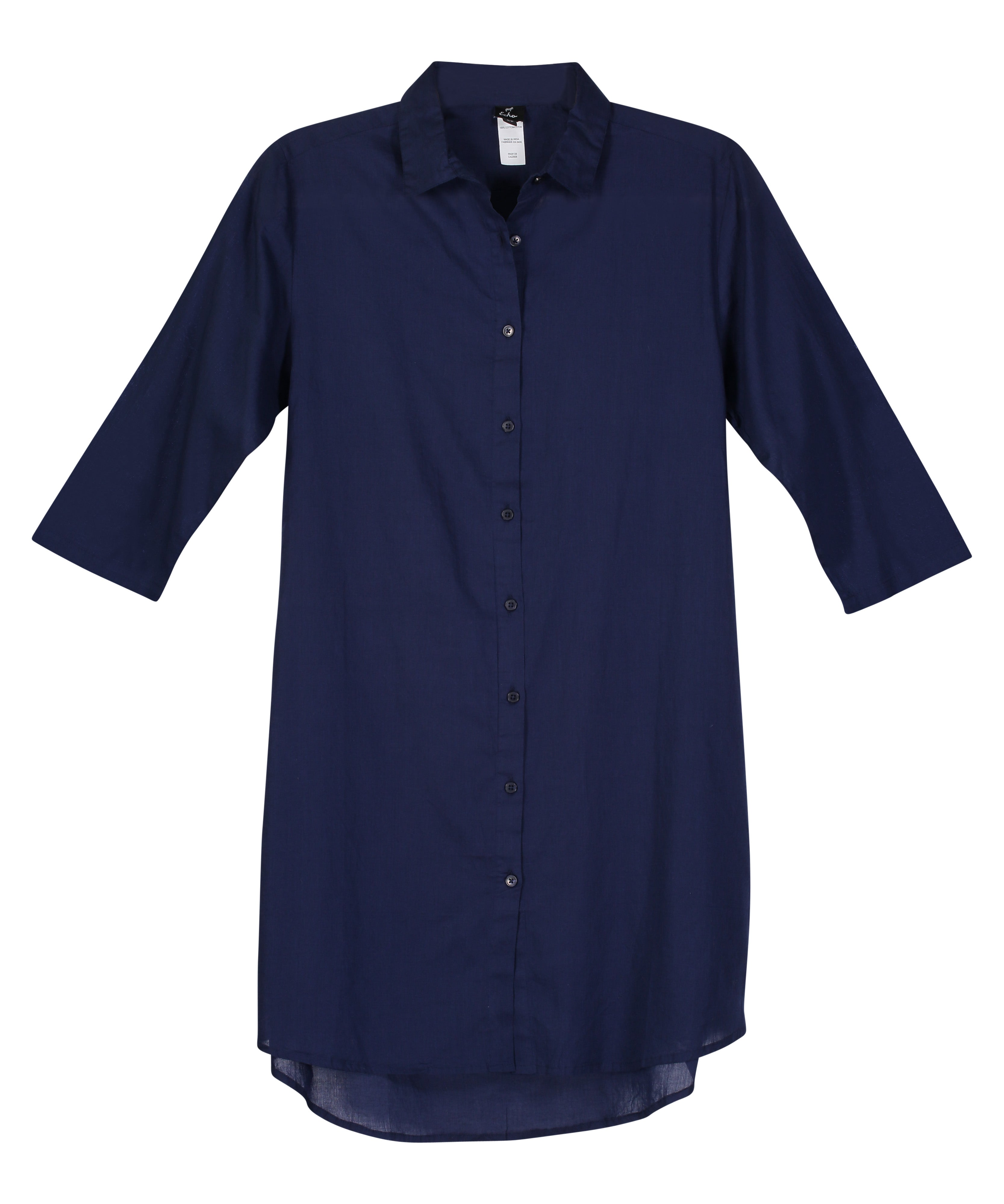 Navy - Solid Button Down