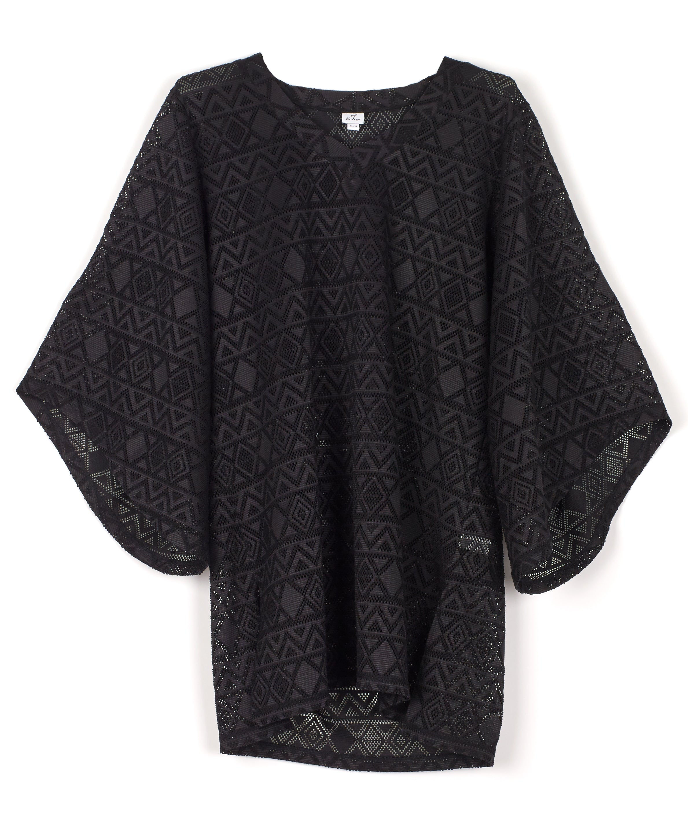 Black - Aussie Savana Bell Sleeve Tunic