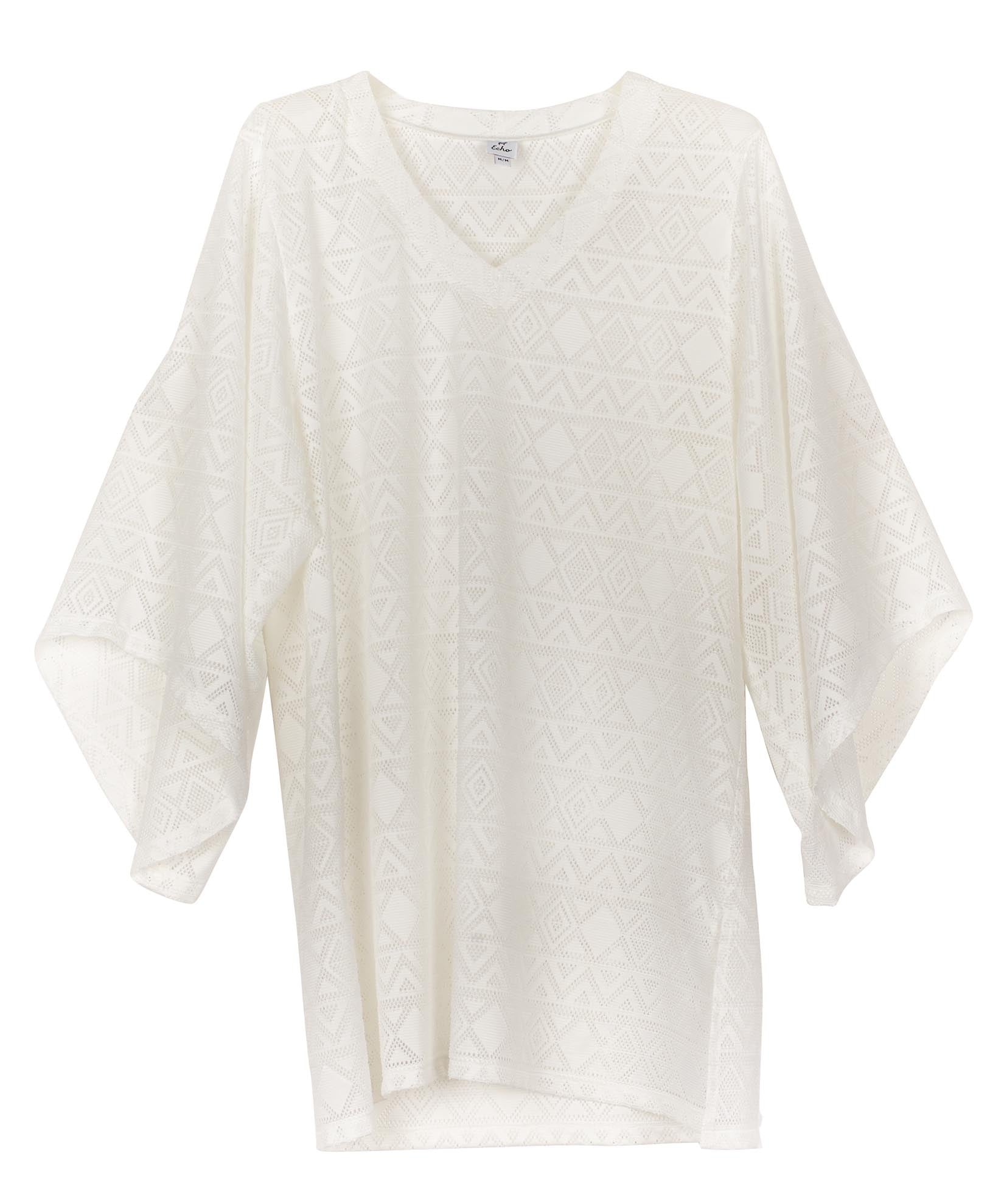 White - Aussie Savana Bell Sleeve Tunic