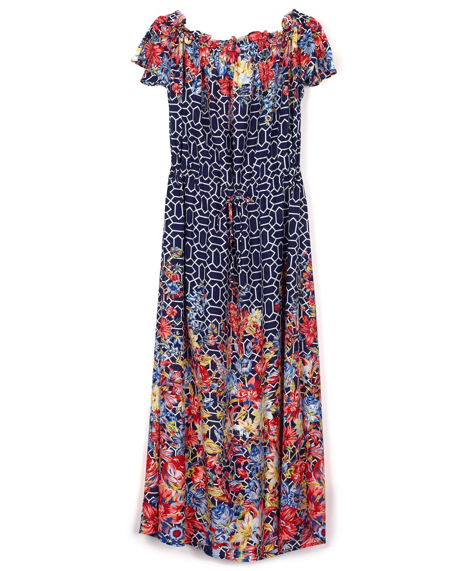Navy - Adelaide Floral Midi Dress
