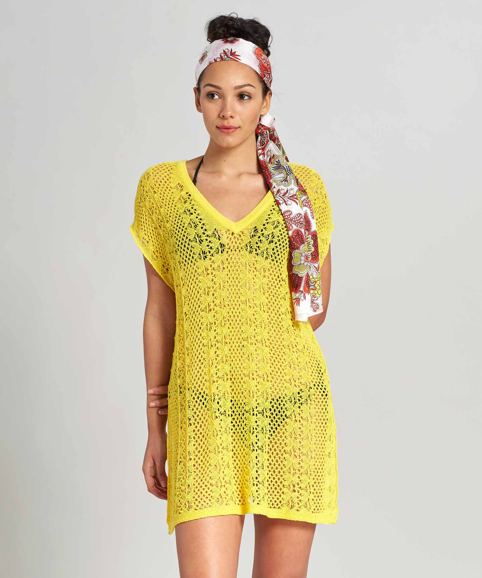 Banana - Solid Pointelle Caftan