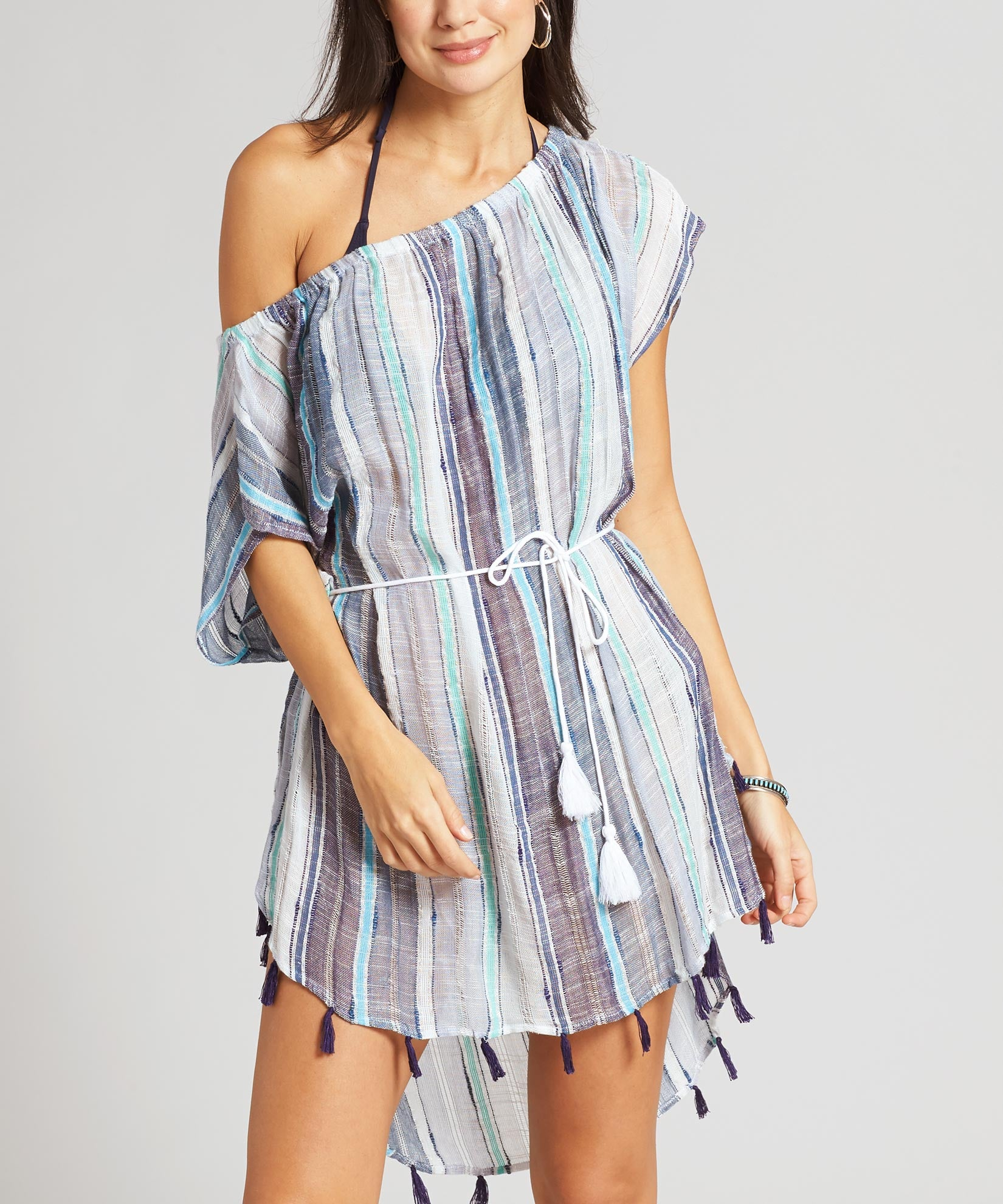 Navy - Boardwalk Stripe Seaside Caftan