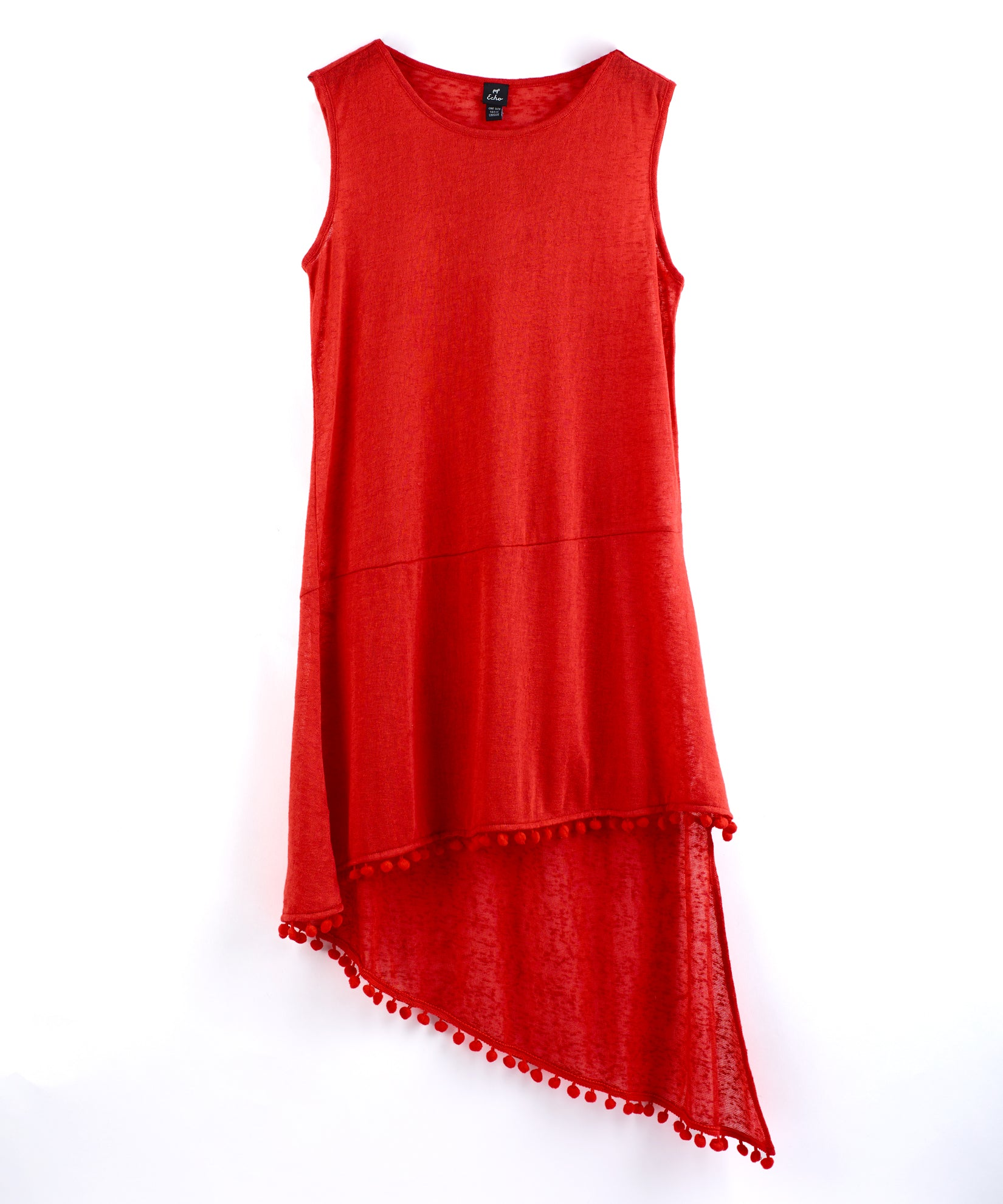 Poppy - Pom Pom Slub Tank Dress