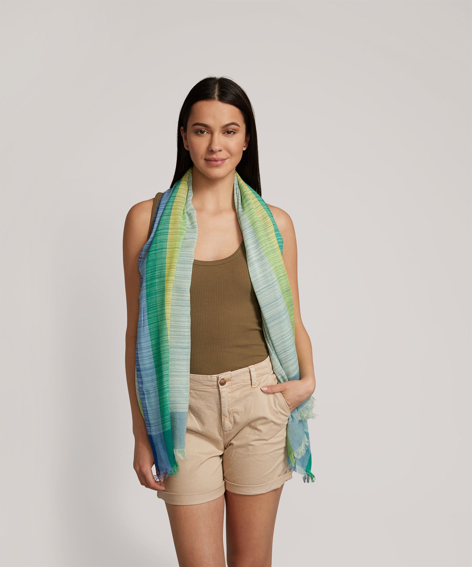 Azul - Rainbow Stripe Pareo Wrap