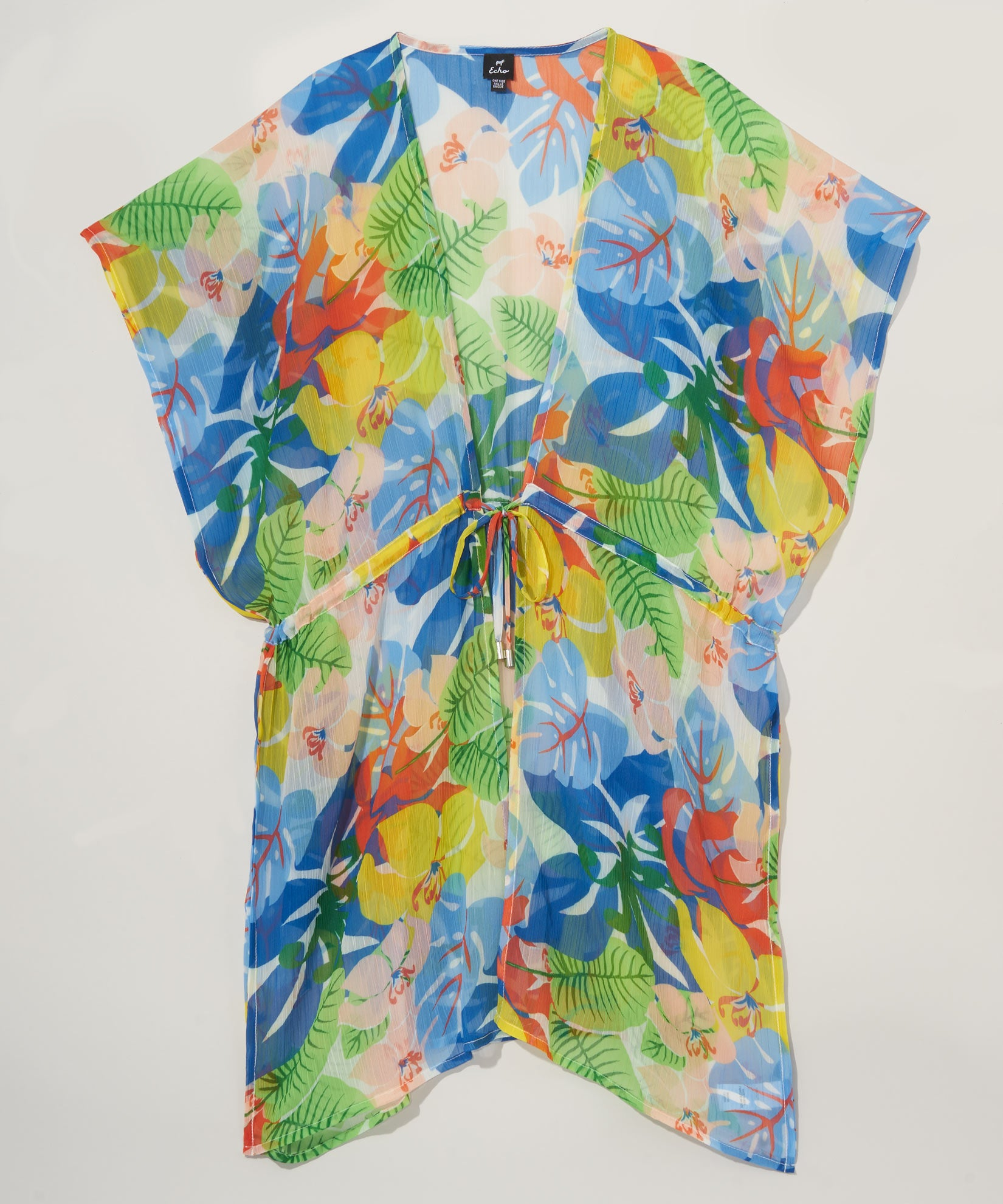Multi - Cut Out Floral Robe