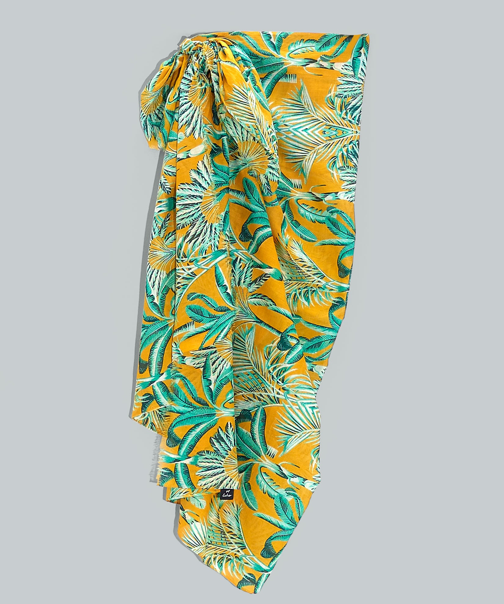 Zinnia - Palm Toile Pareo Wrap In-A-Bag