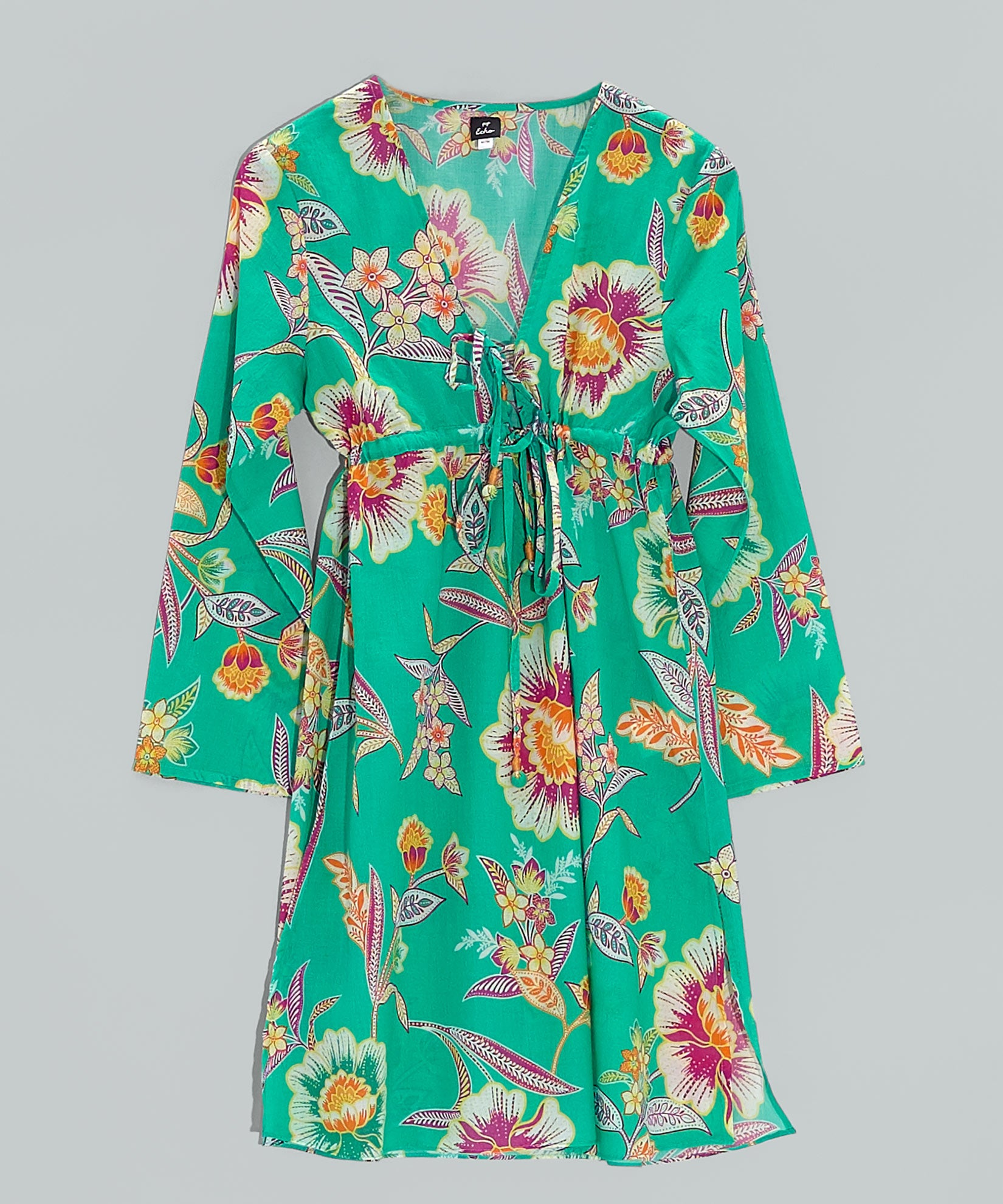 Aqua - Tropical Floral Tunic Dress