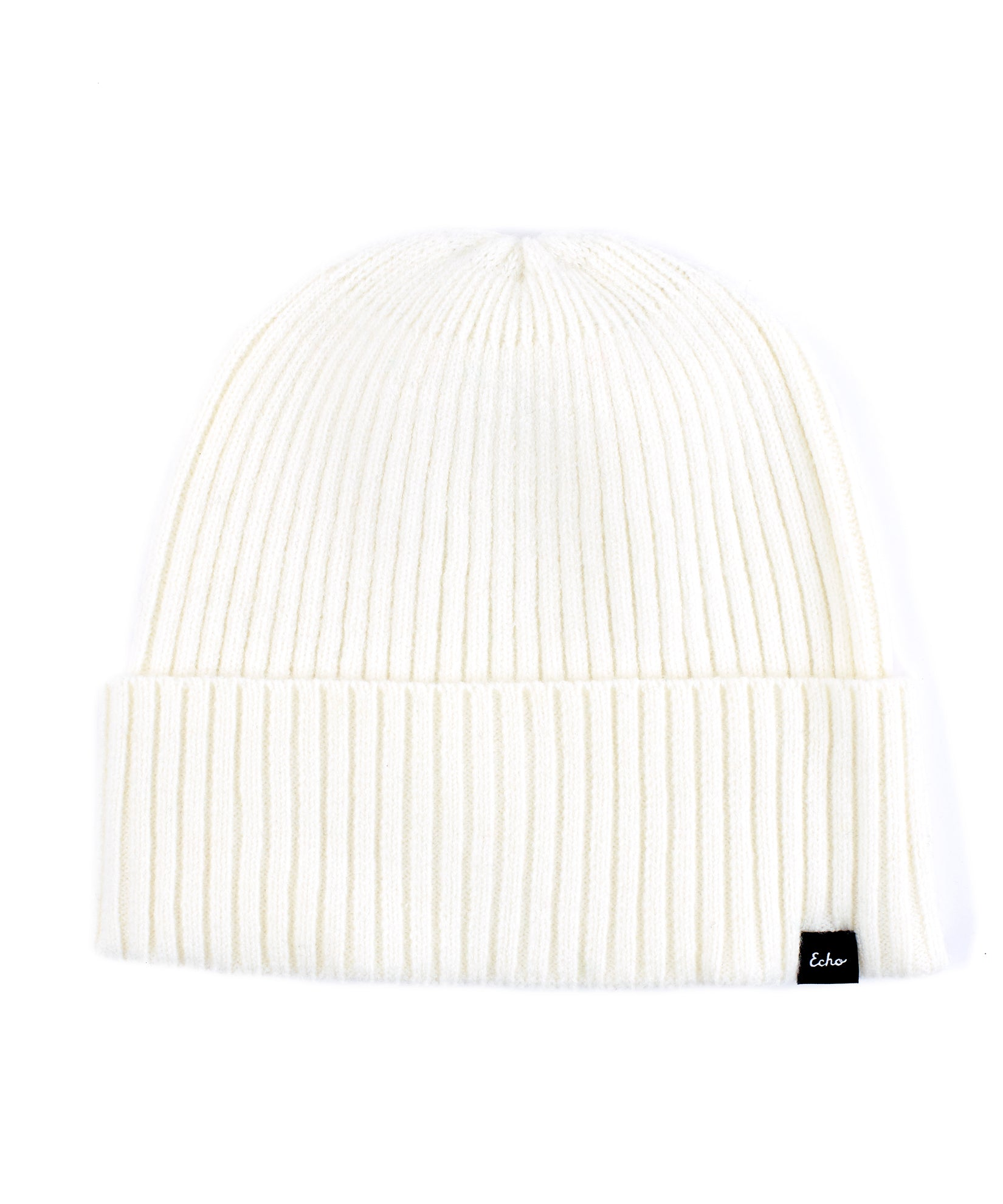 Echo Ivory - Active Stretch Ribbed Cuff Beanie