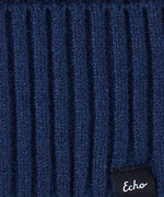 Echo Navy - Active Stretch Ribbed Cuff Beanie