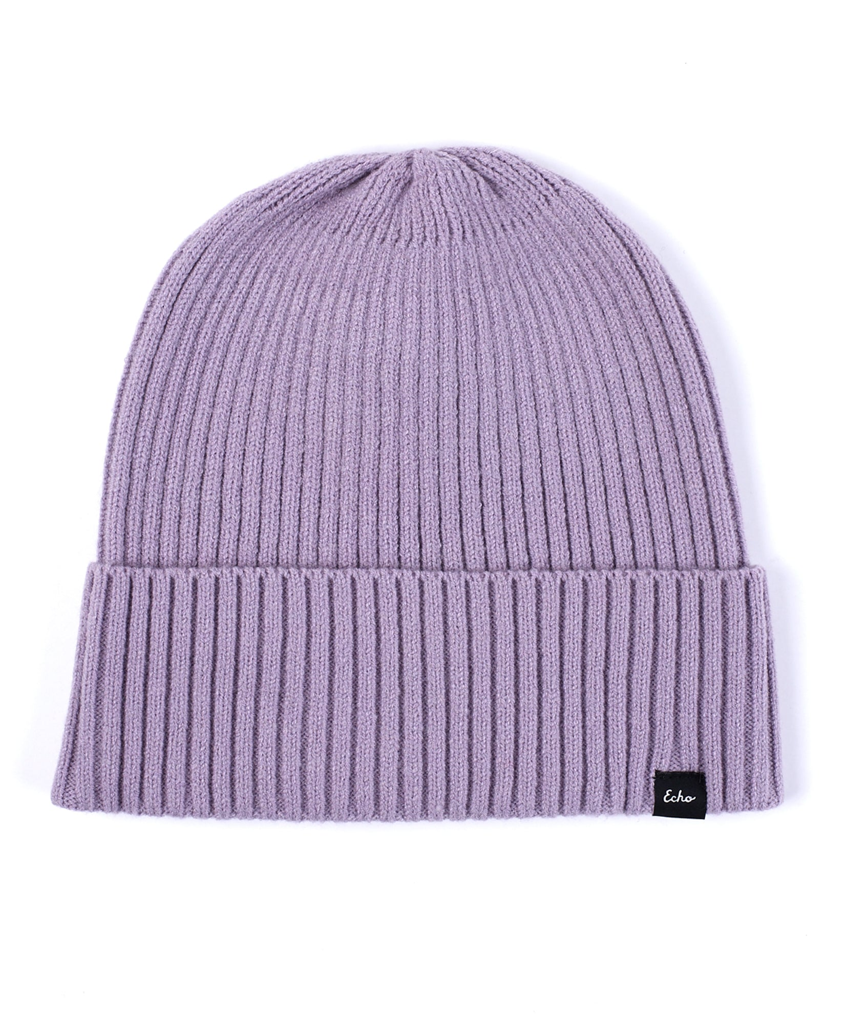Smoked Lilac - Active Stretch Ribbed Cuff Beanie