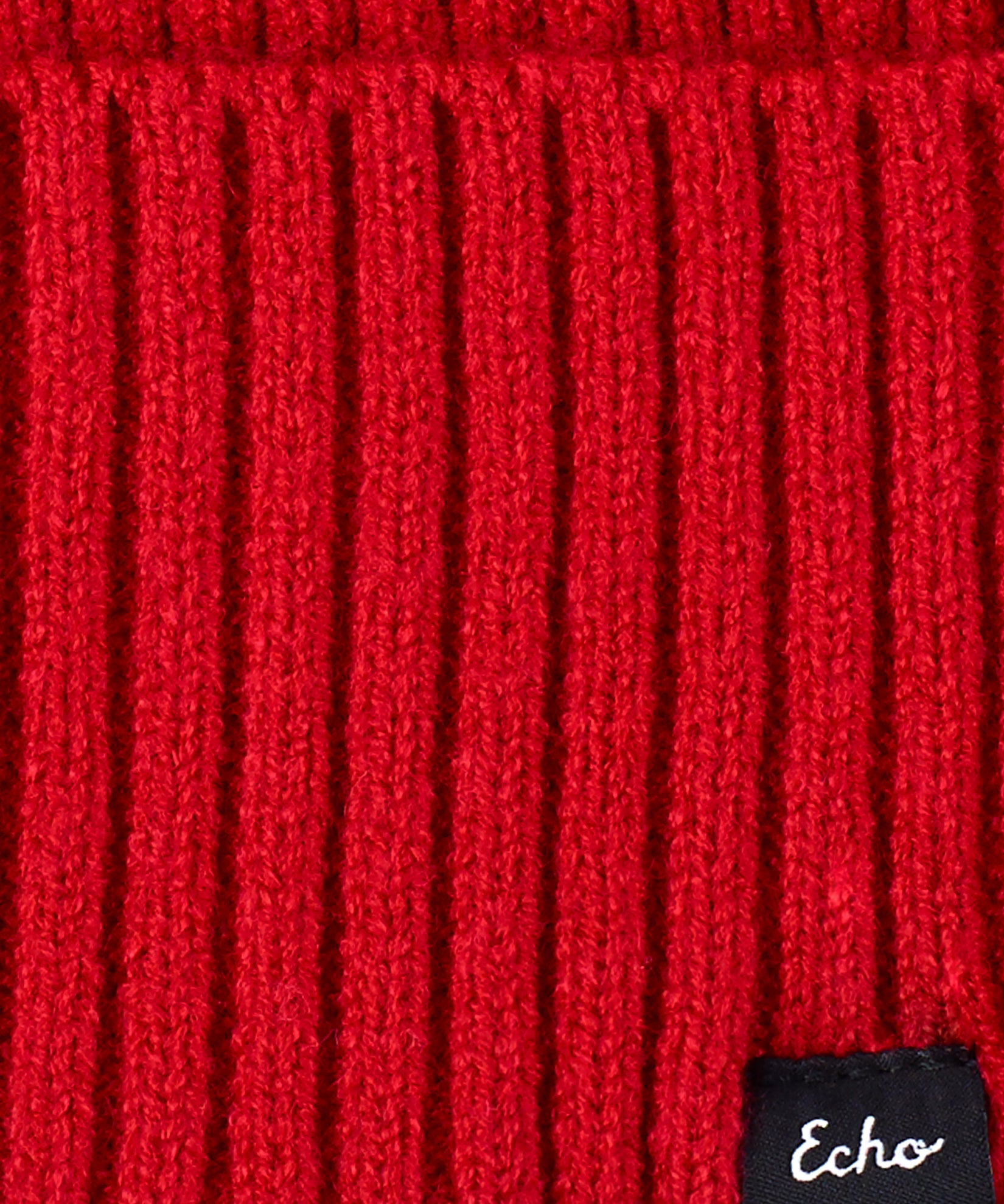 Ruby Red - Active Stretch Ribbed Cuff Beanie