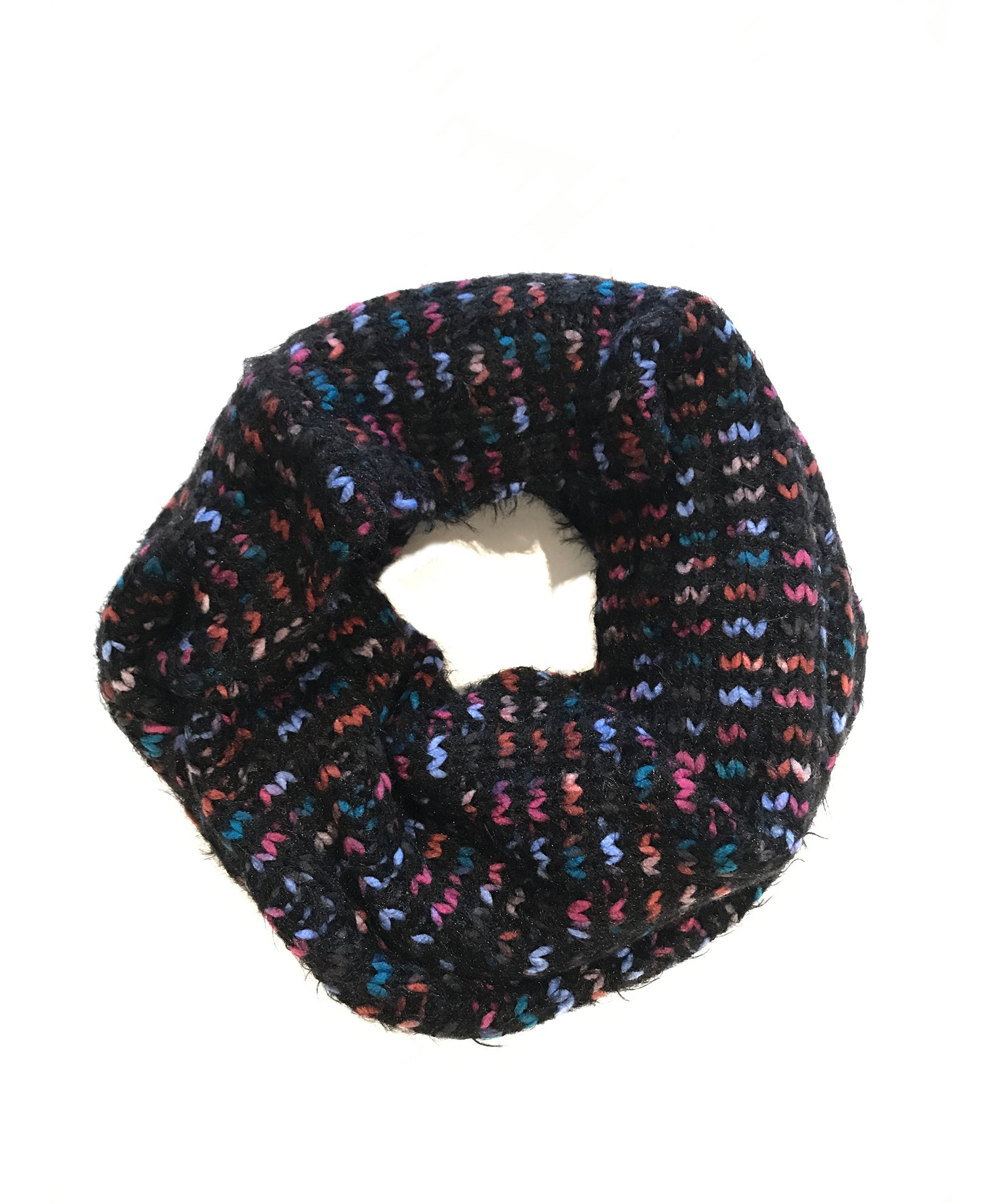 Multi/Black - Confetti Space Dye Loop