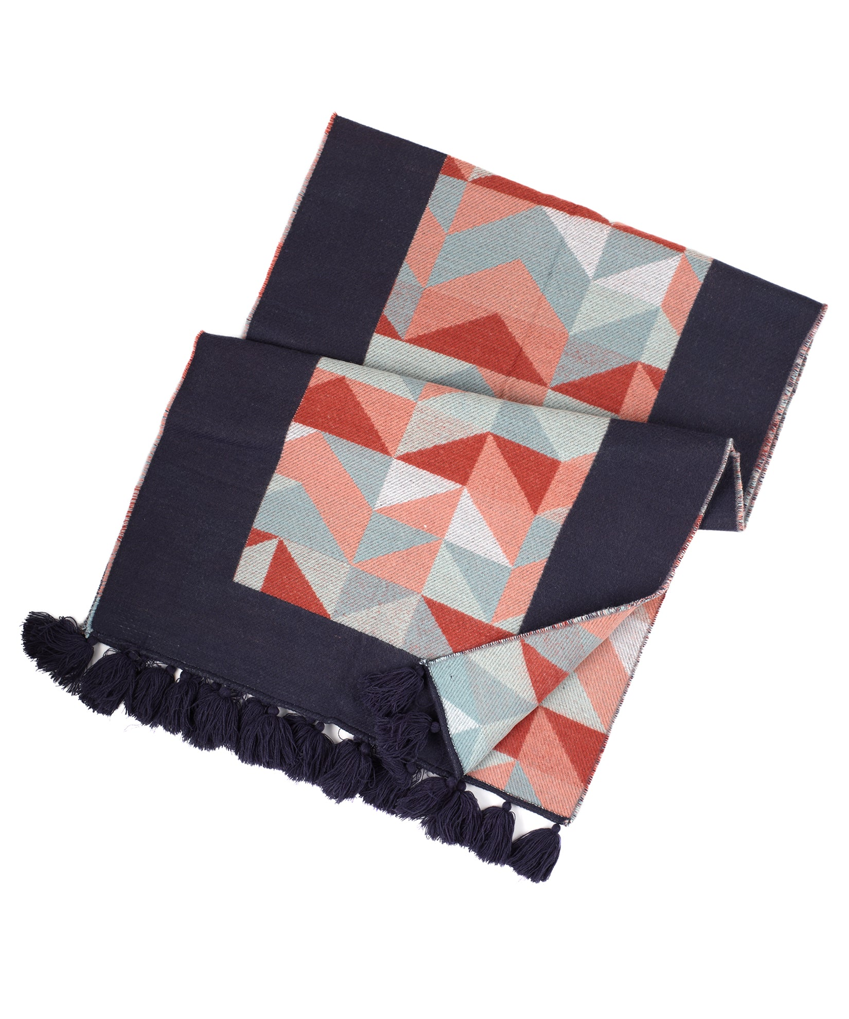 Echo Navy - Chevron Colorblock Muffler