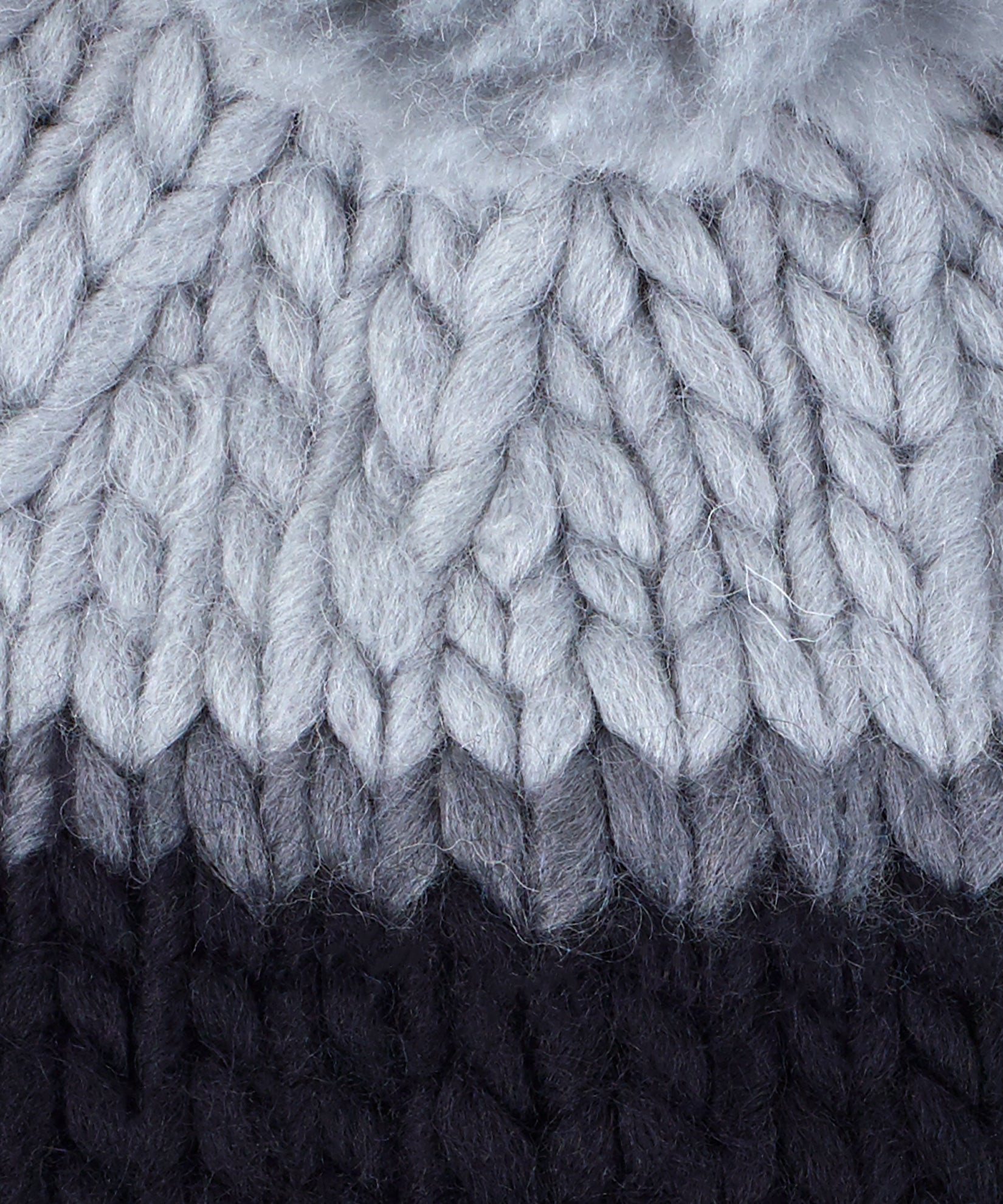 Echo Black - Roving Yarn Beanie