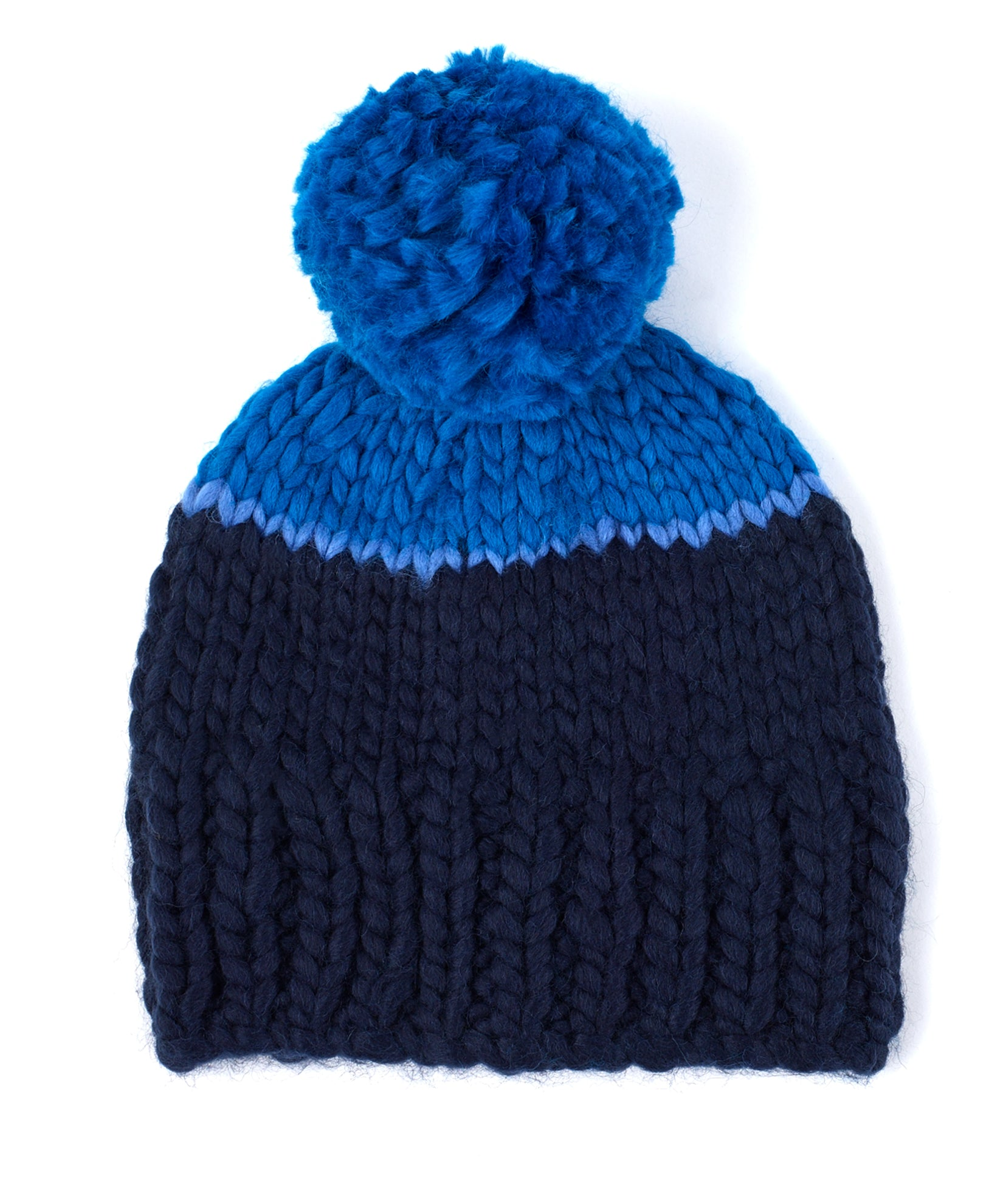 Echo Navy - Roving Yarn Beanie