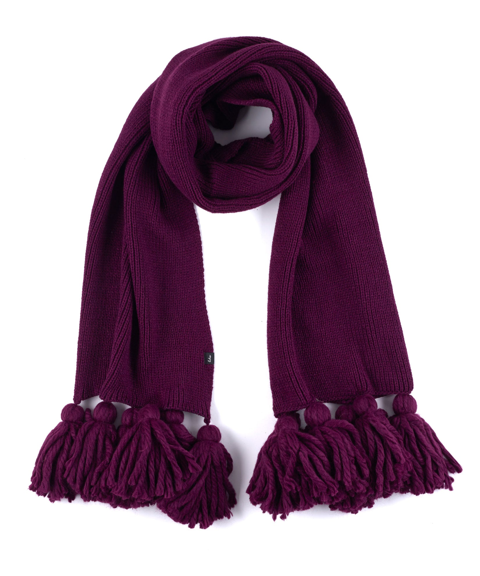 Pickled Beet - Maxi Tassel Muffler